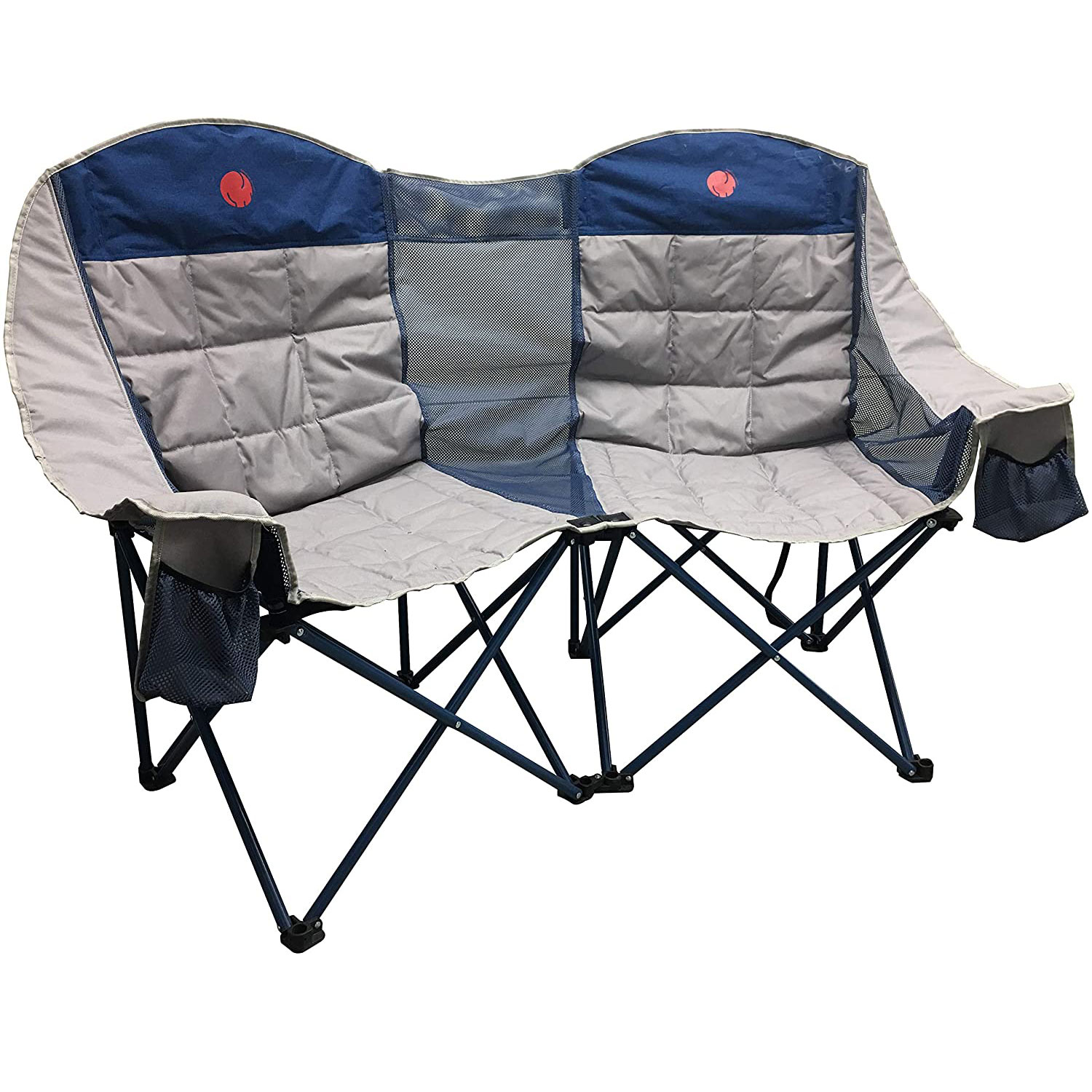 OmniCore Designs MoonPhase Home-Away LoveSeat Heavy Duty Oversized Folding Double Camp Chair Collection