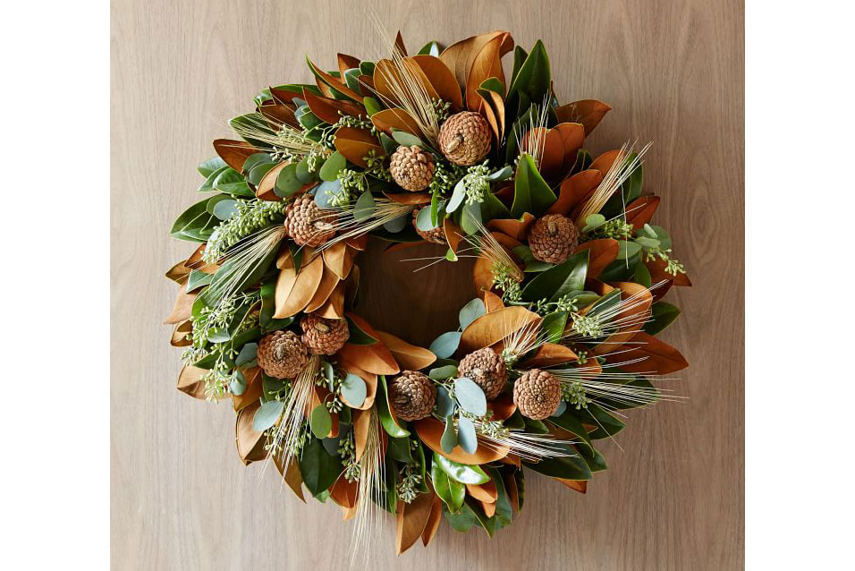 wheat wreath west elm holiday cyber monday