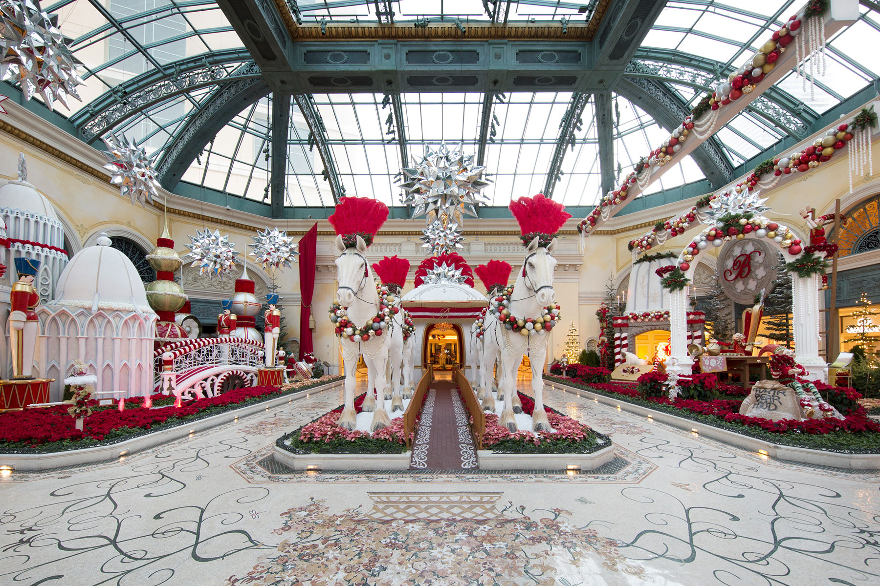 Bellagio Hotel and Casino holiday decor