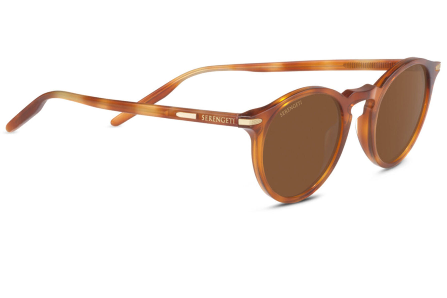 Tan round sunglasses