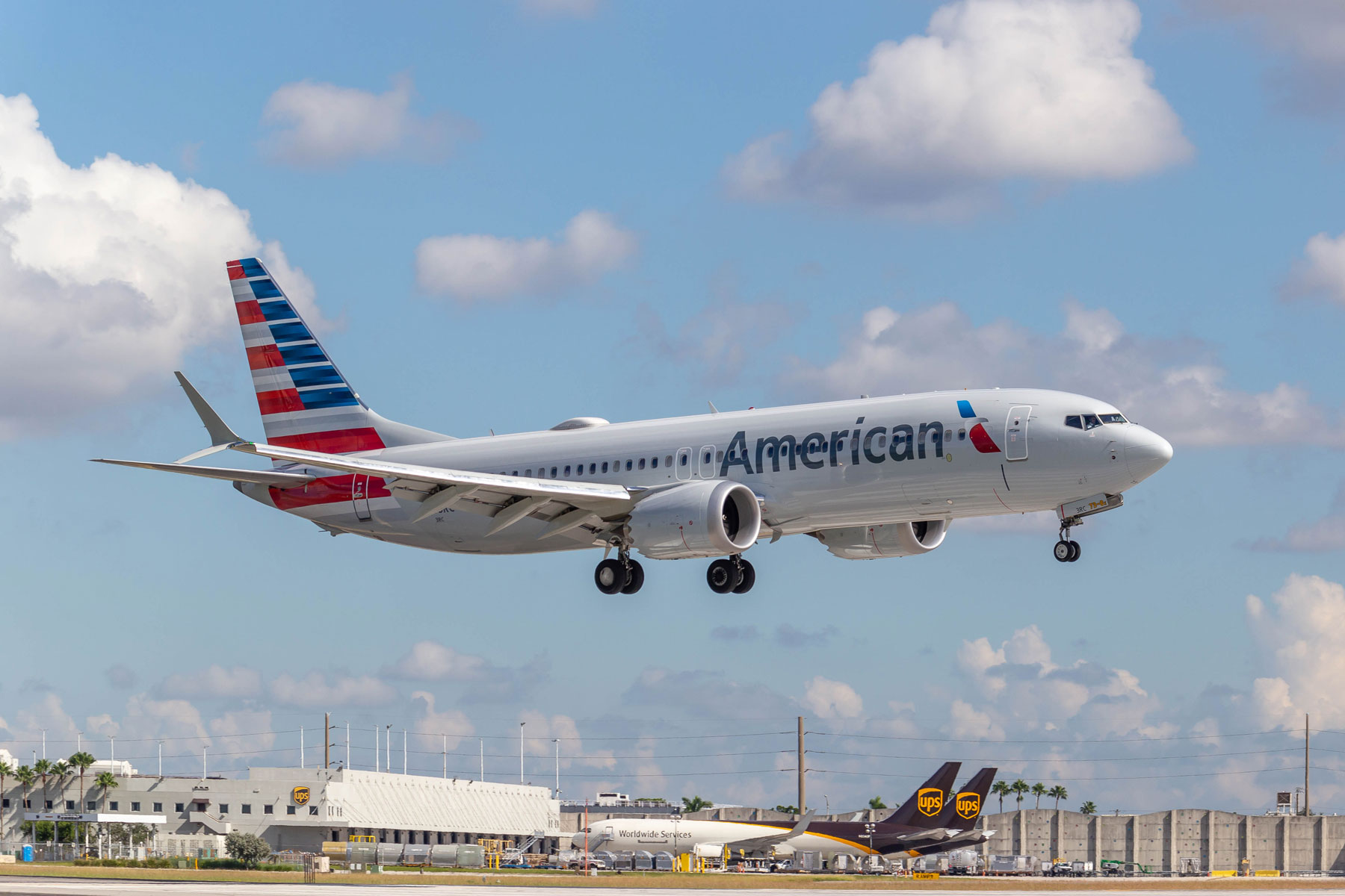 American Airlines Boeing 737-8 MAX at Miami International Airport