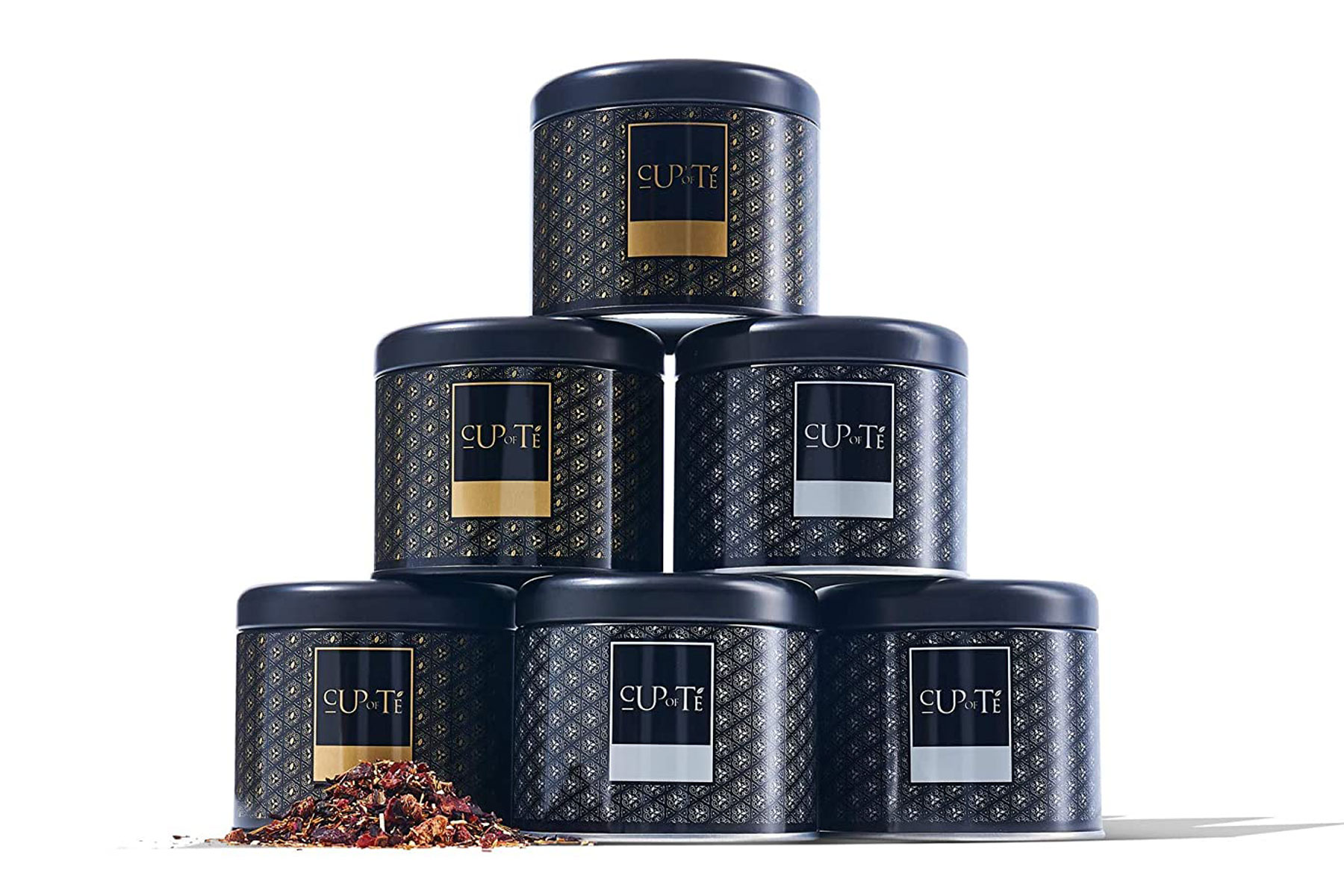 Cans of tea in a gift set