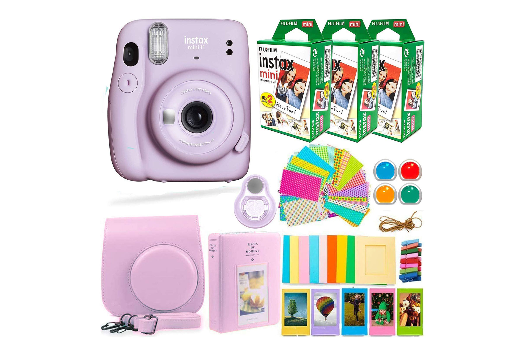 Fujifilm instax camera and accessories set