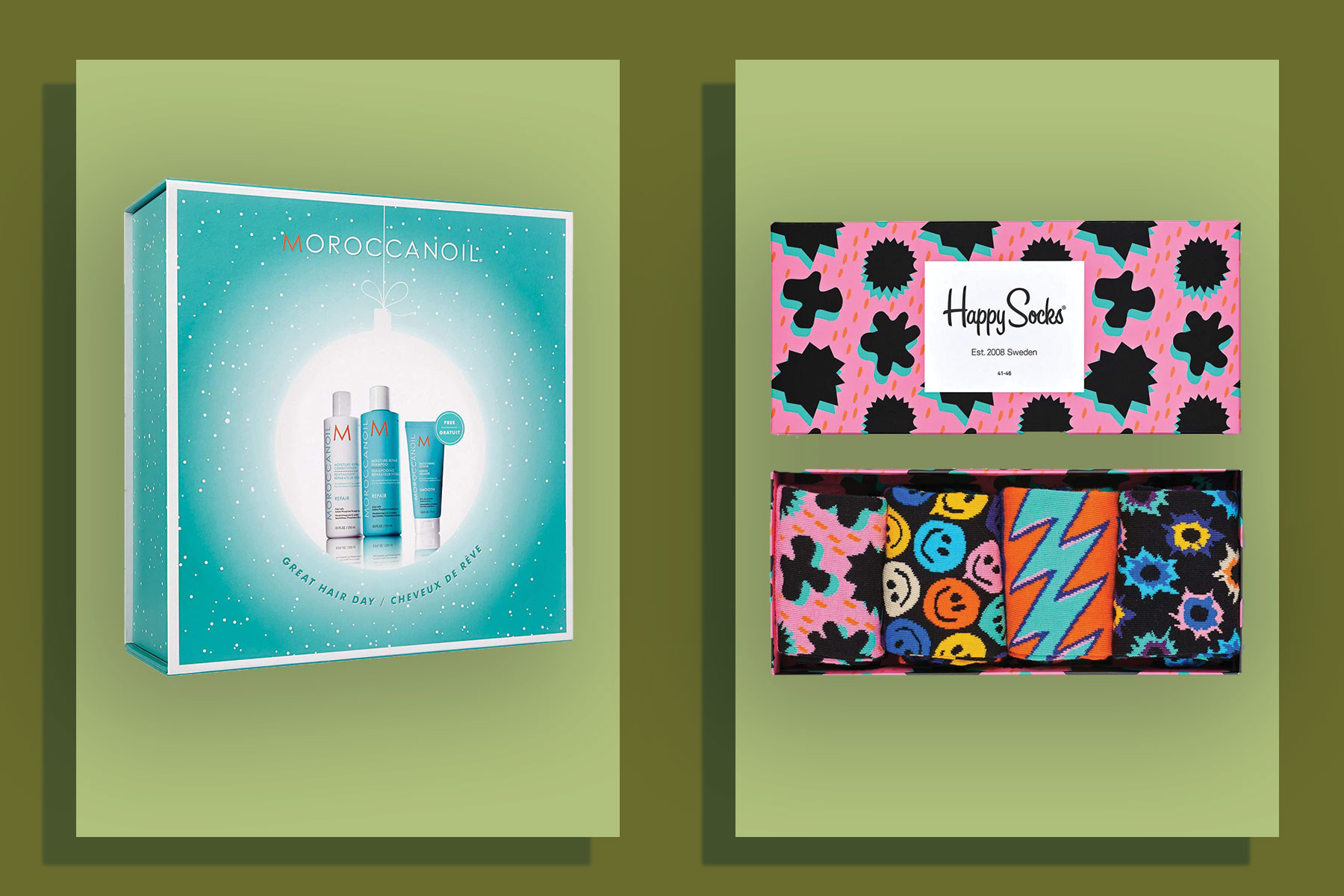 Haircare and sock gift sets