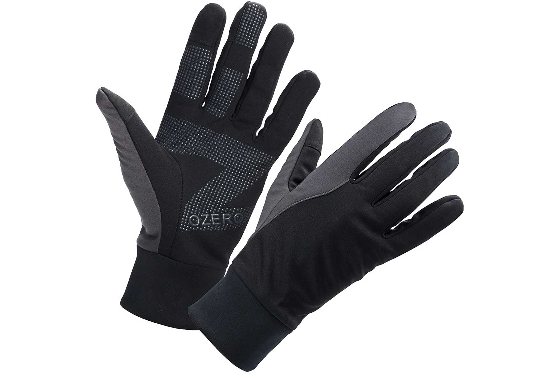Ozero touch screen gloves black and grey