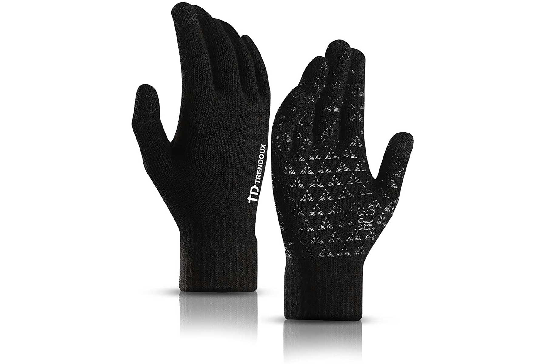 Trendoux touch screen gloves black