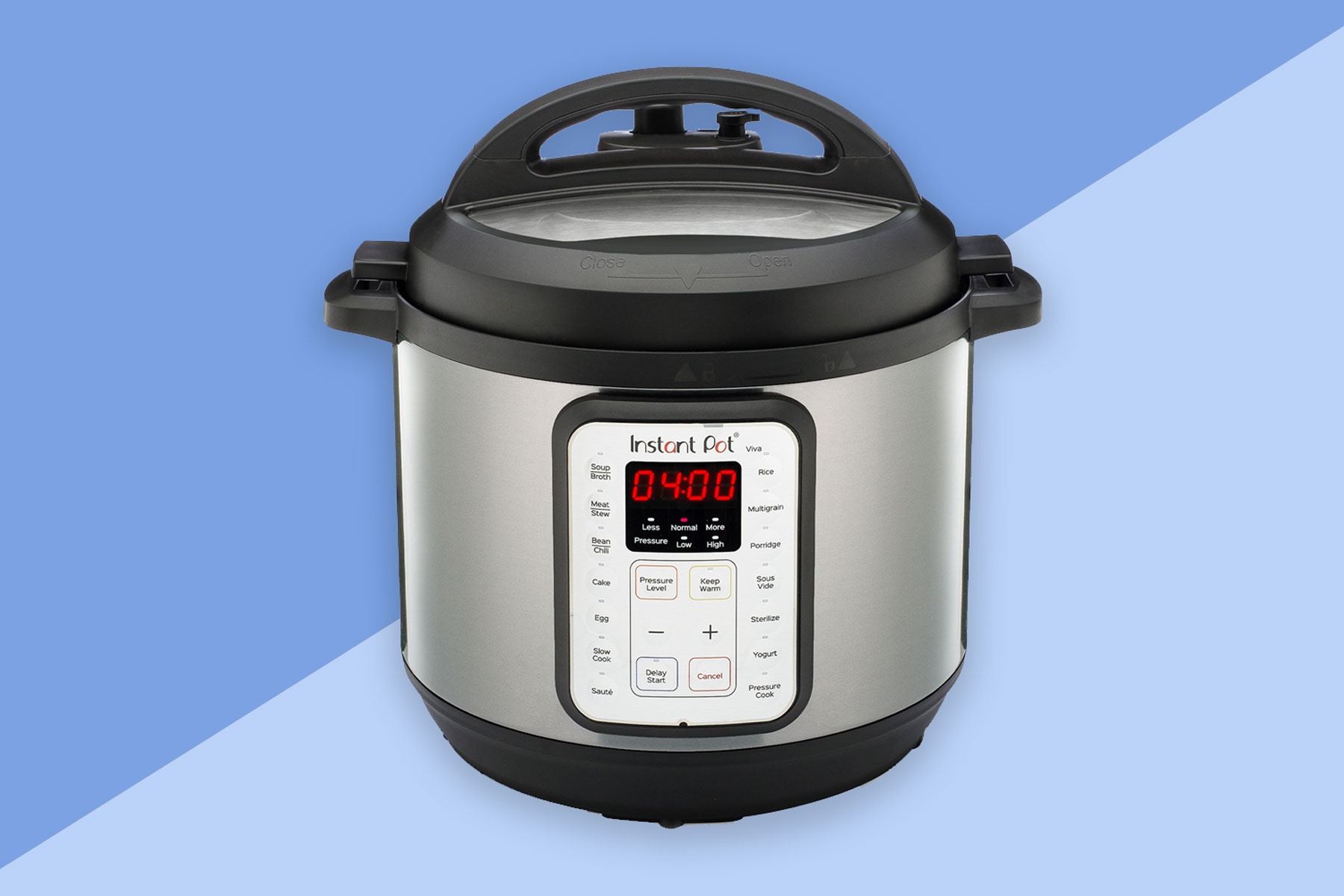 Black and stainless steel Instant Pot pressure cooker