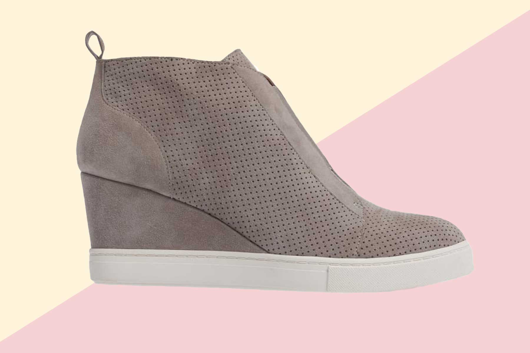 Linea Paolo 'Felicia' Wedge Sneaker in grey
