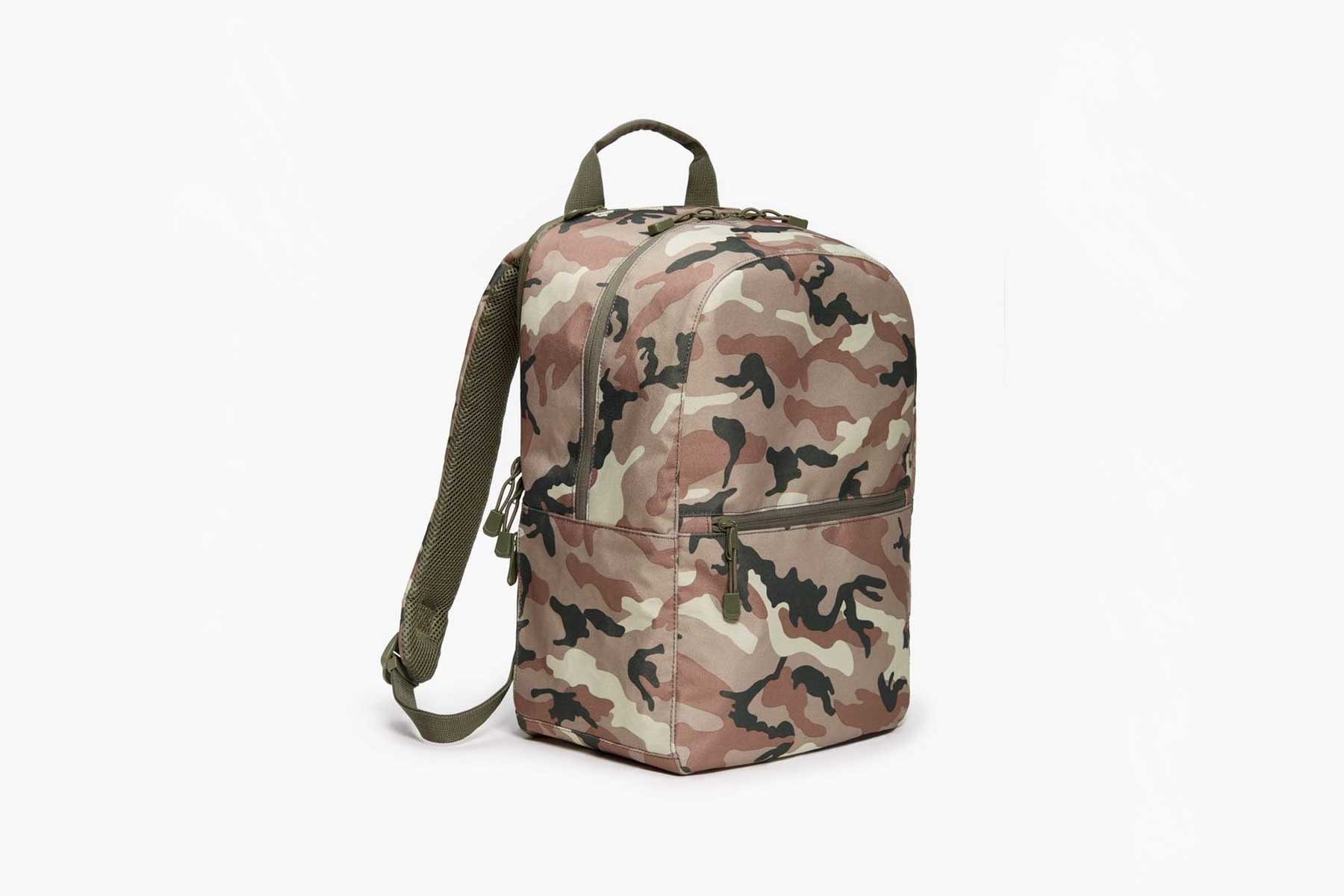 Lo & Sons Havonver 2 backpack in tan camo