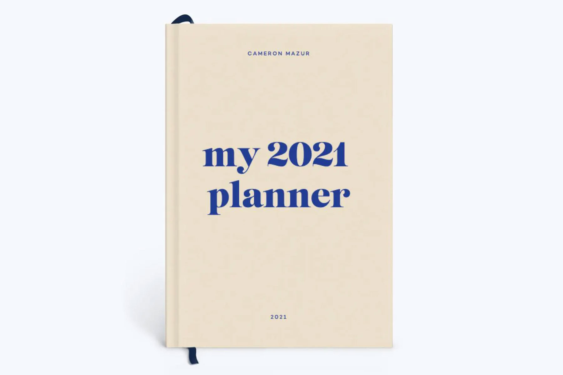 Cream and blue 2021 planner