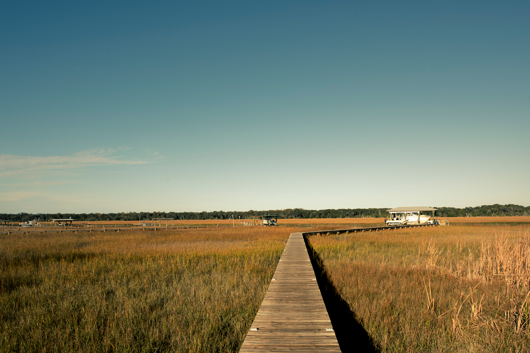 Marsh and Inland waterway, Amelia Island, near Jacksonville, Florida