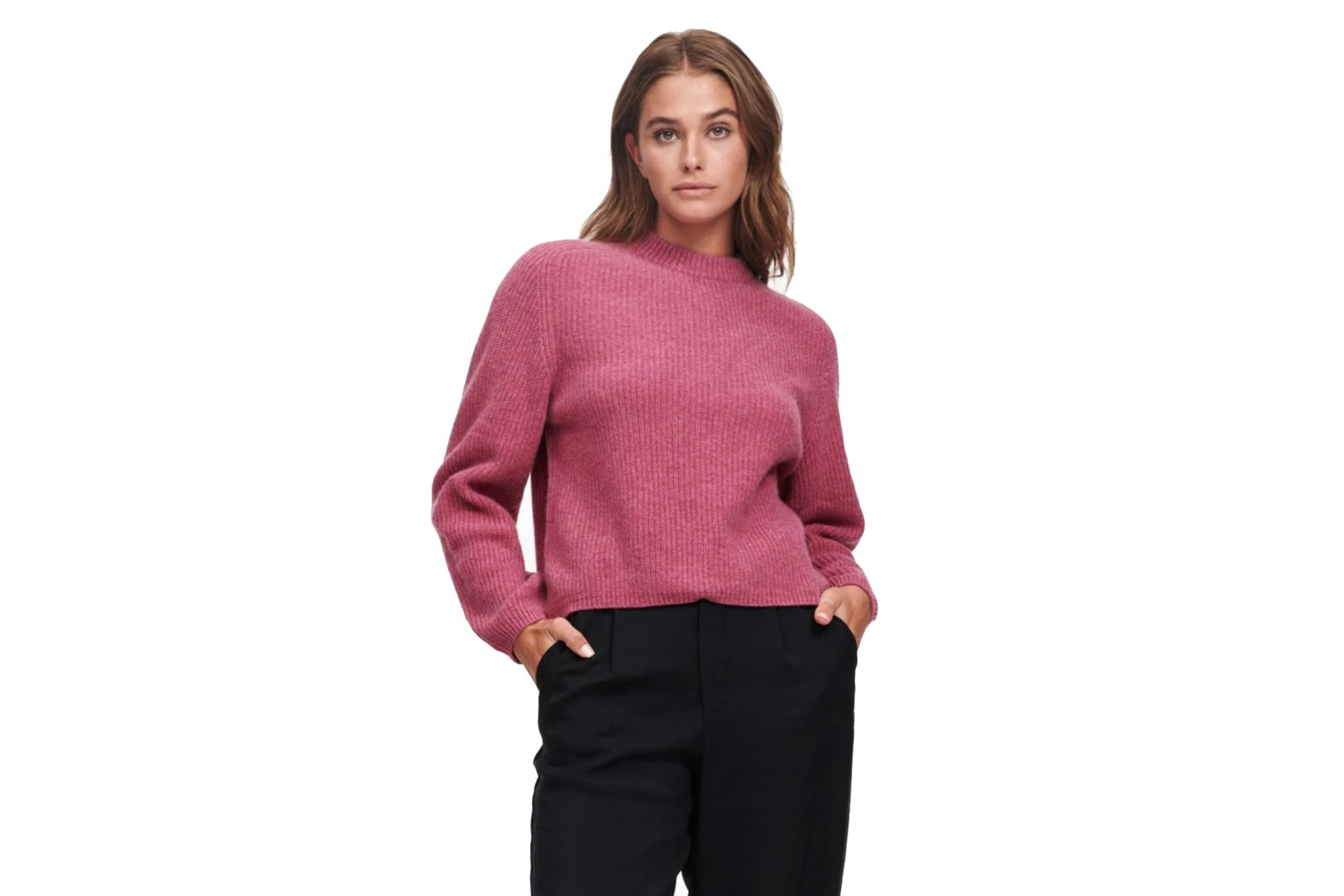 Cashmere Ribbed Mockneck Sweater