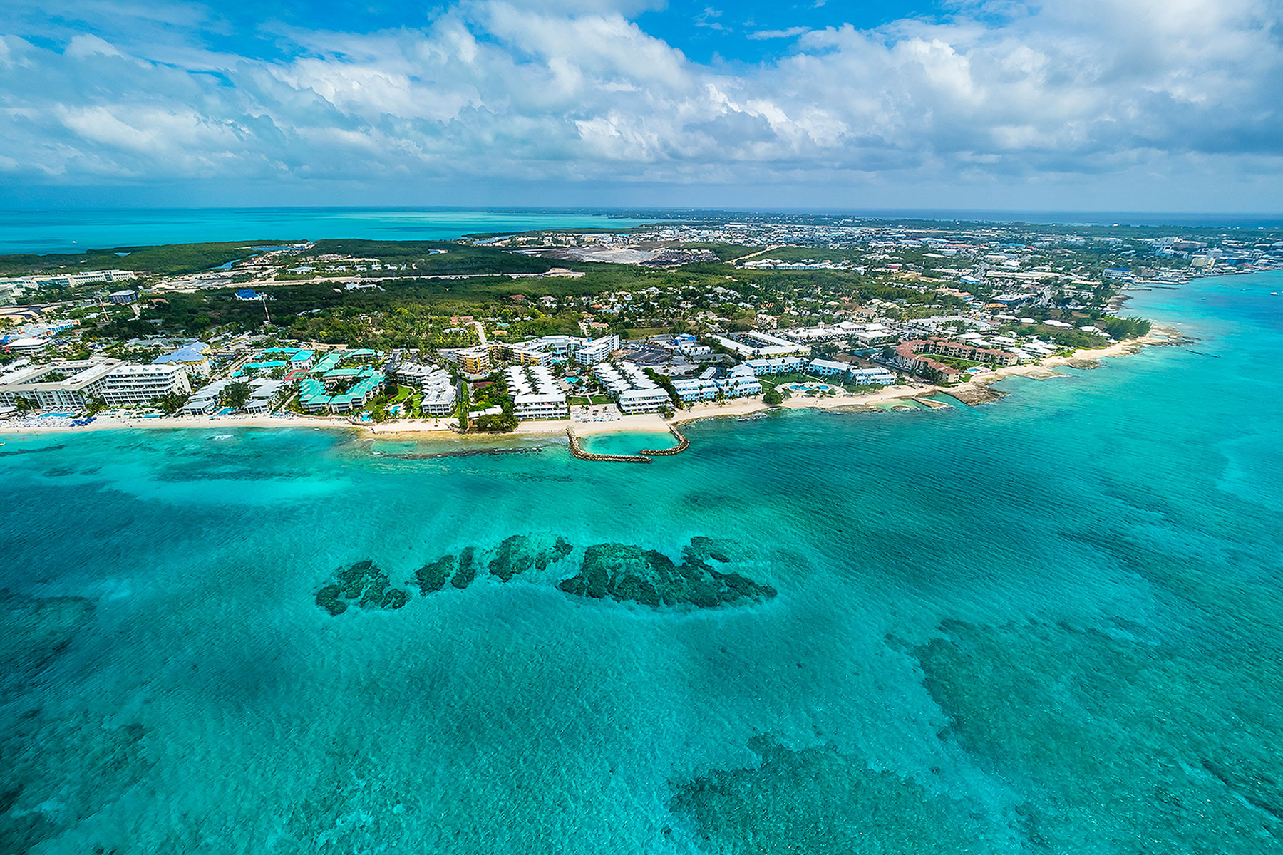 aerial view of Cayman Islands