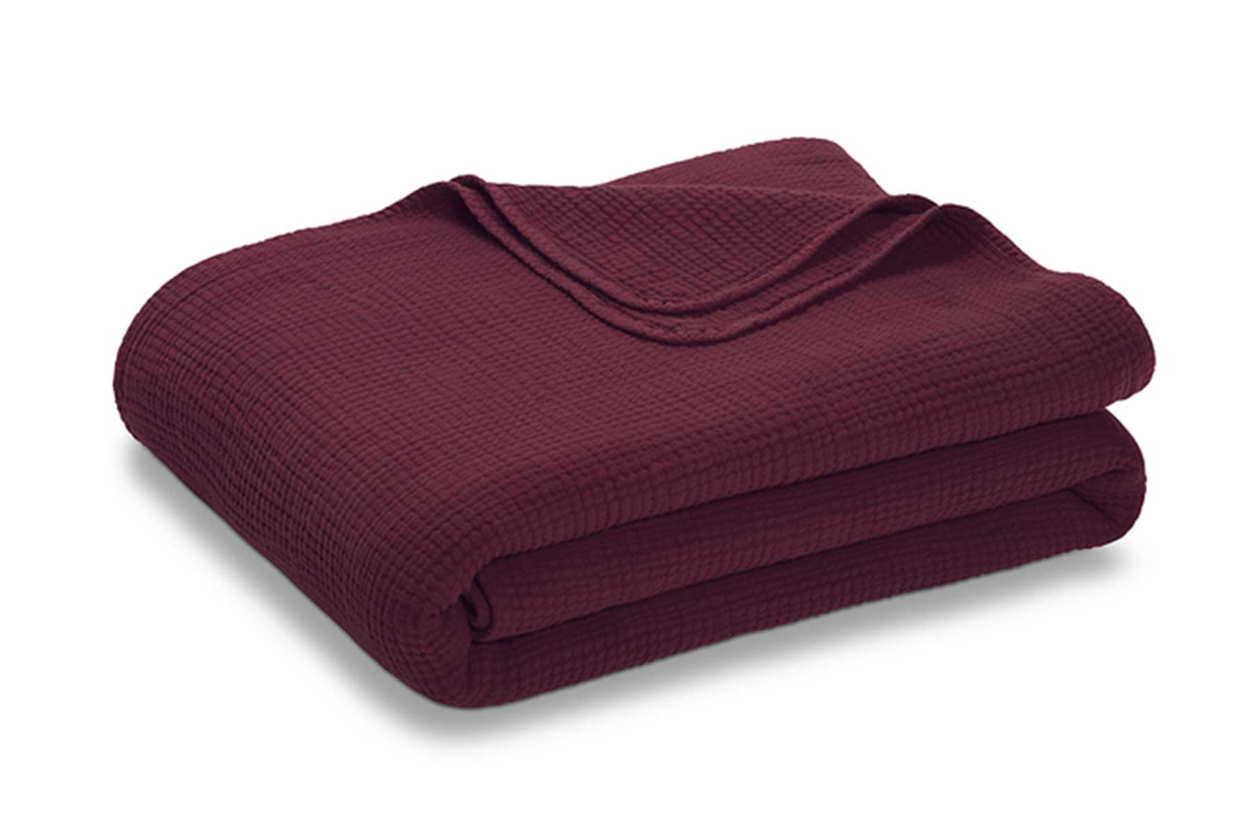 RiLEY Four Layer Coverlet in maroon