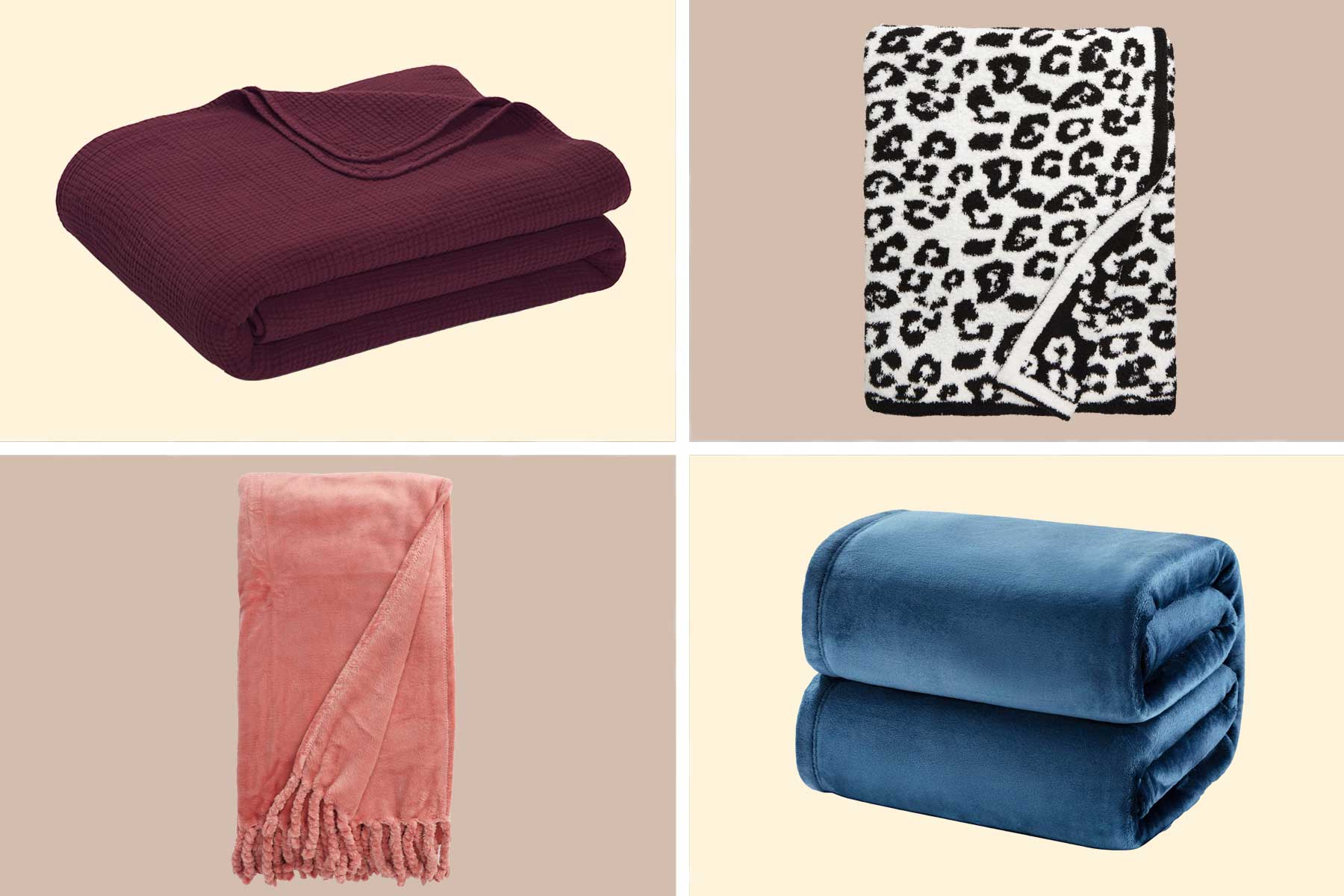 Throw blankets from Nordstrom, Amazon, and RiLEY