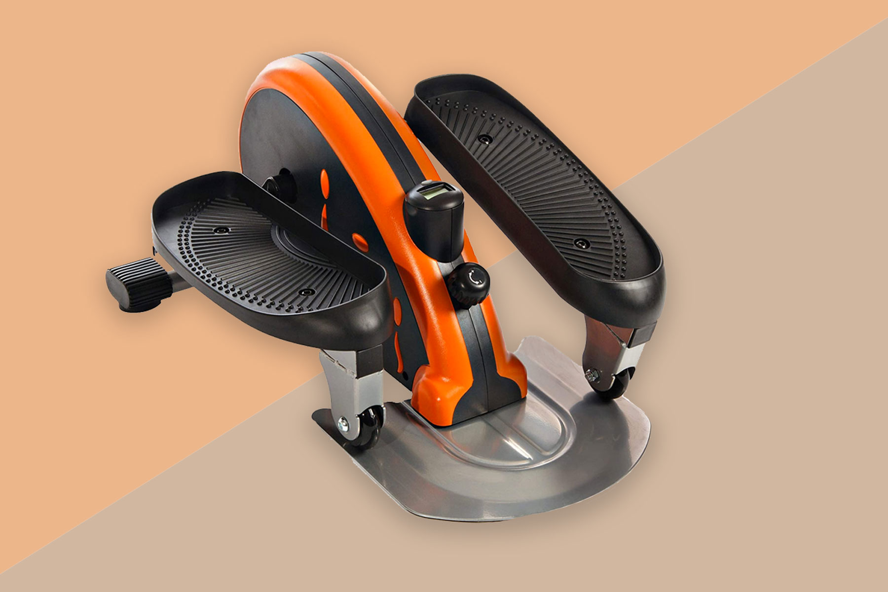 orange and black under desk elliptical
