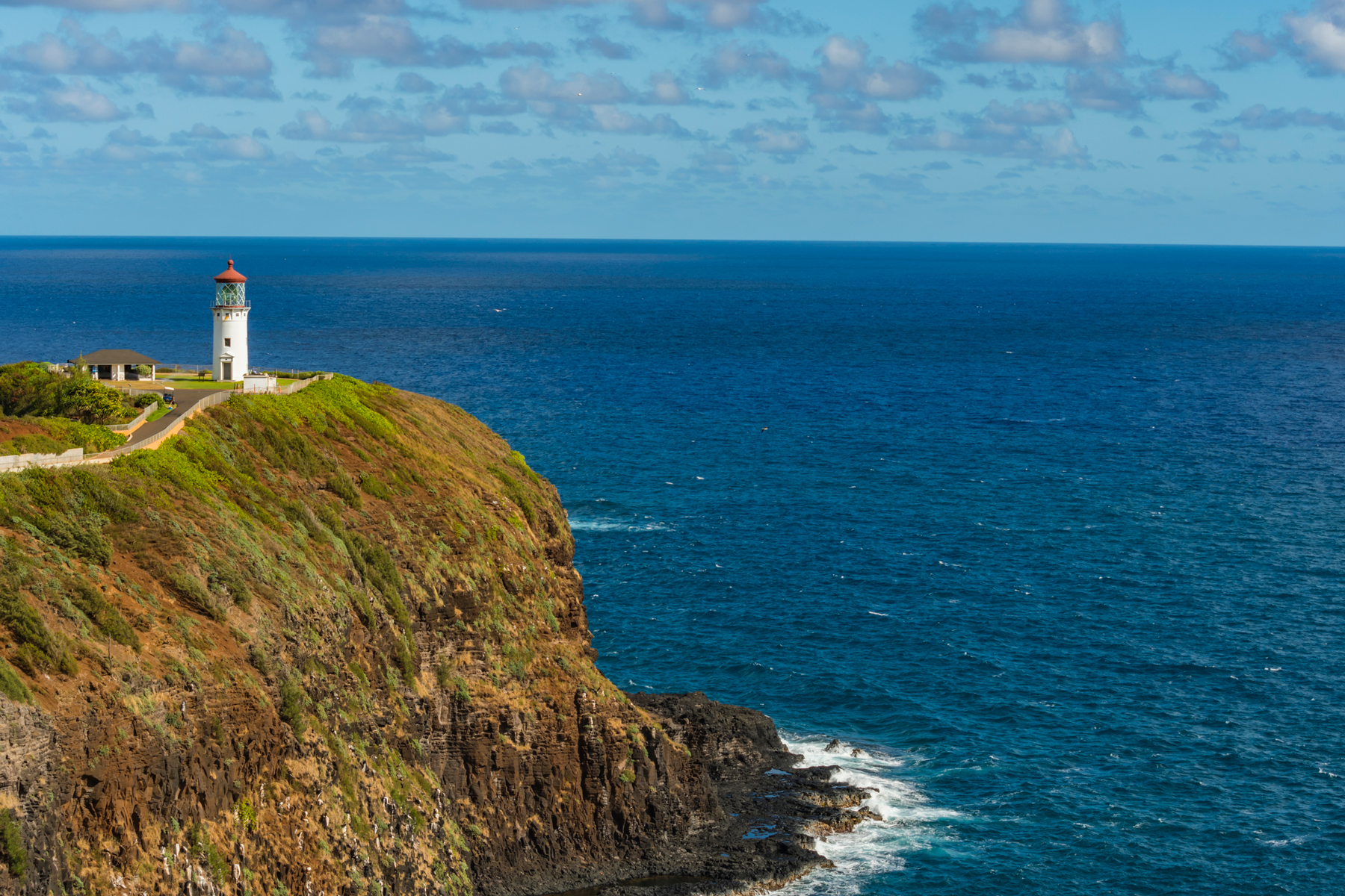 A view of Kīlauea Lighthouse on the north shore of Kauai, Hawaii.