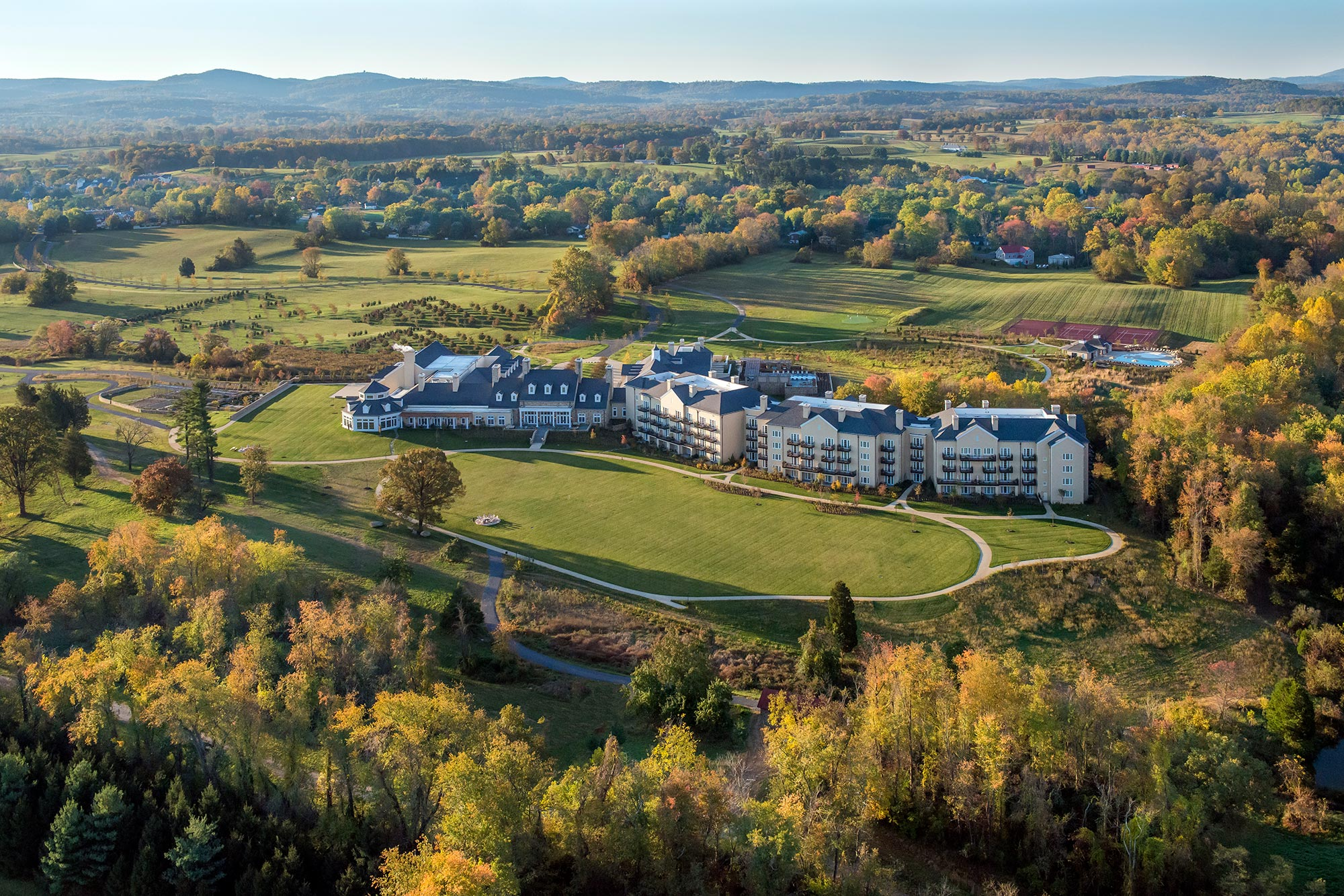 aerial view of Salamander Hotels & Resort