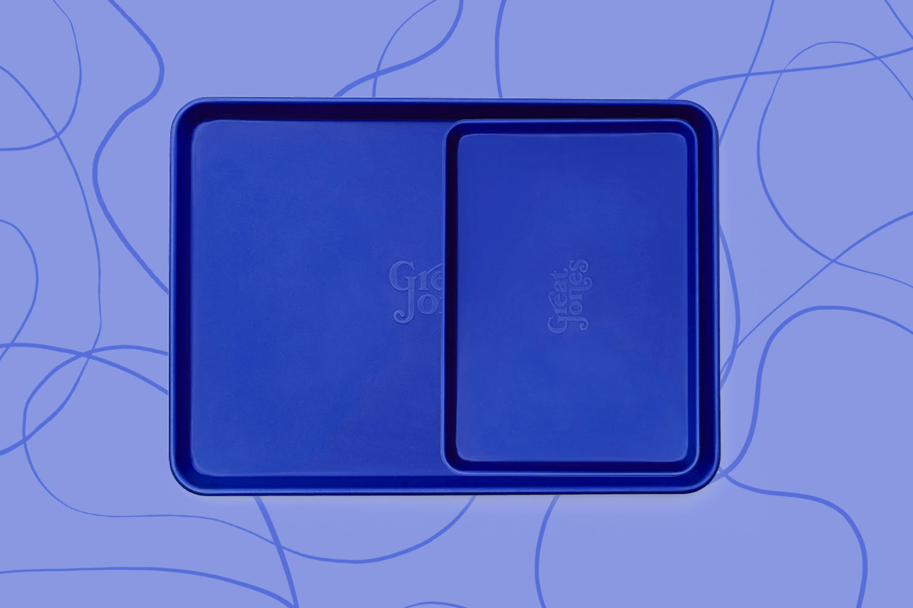 Royal blue baking sheets