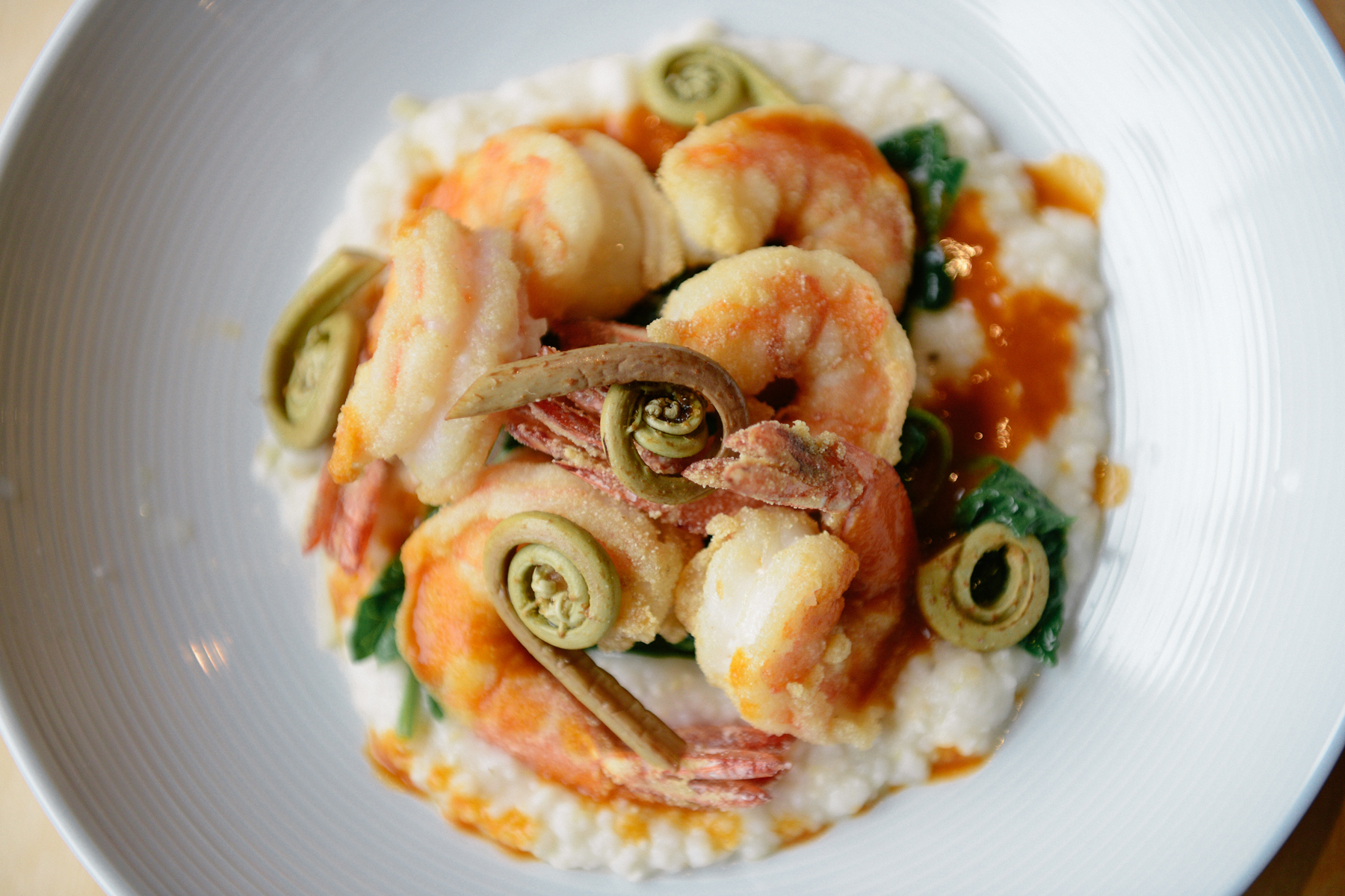 Shrimp and grits from Junebaby in Seattle