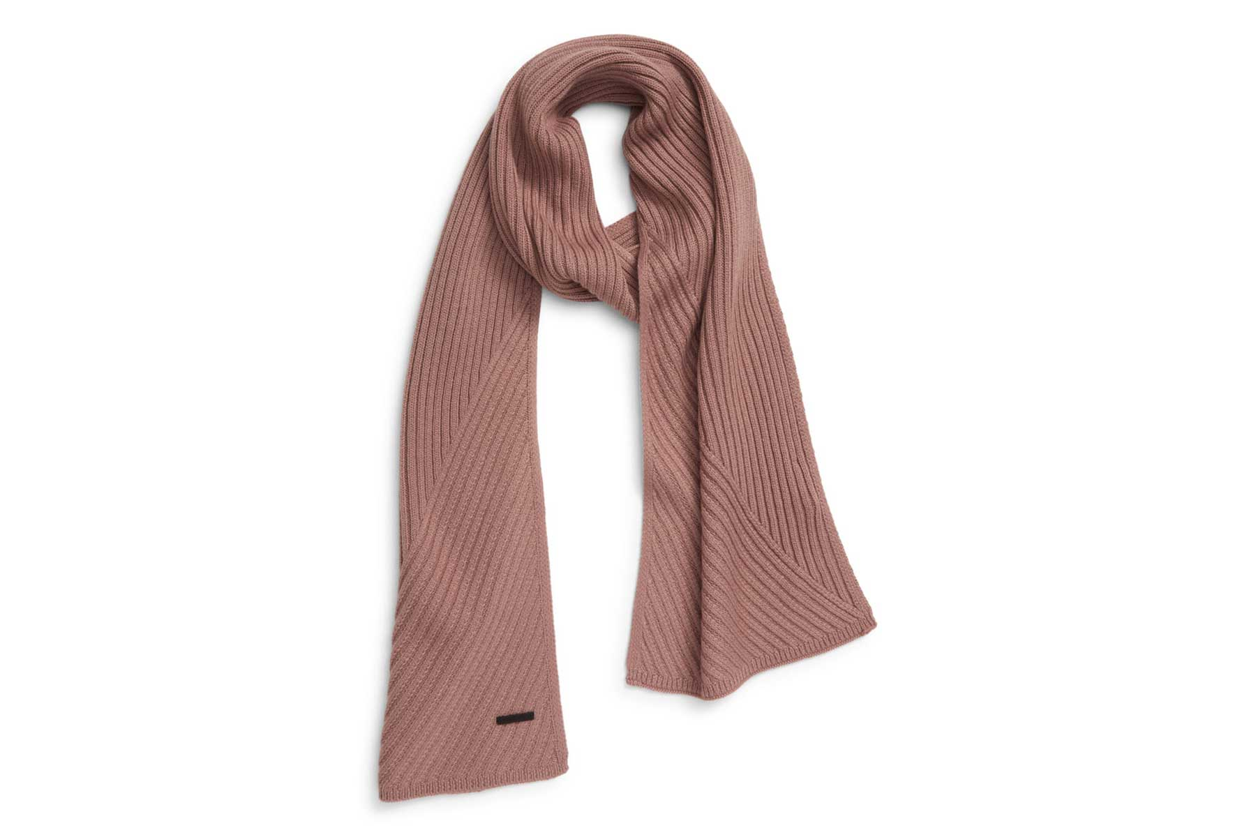 Allsaints Traveling Rib Scarf in Pink Lady