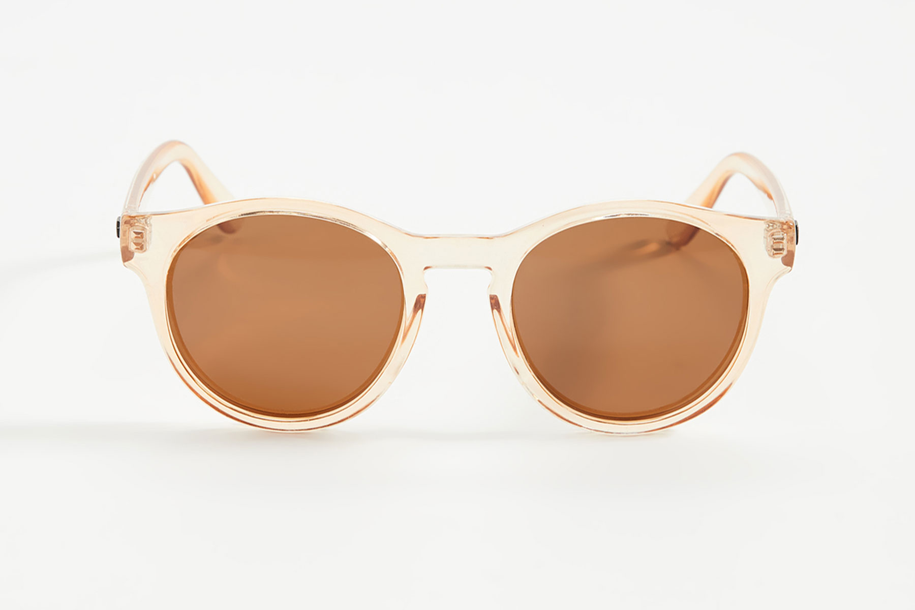 Clear/yellow tinted round sunglasses