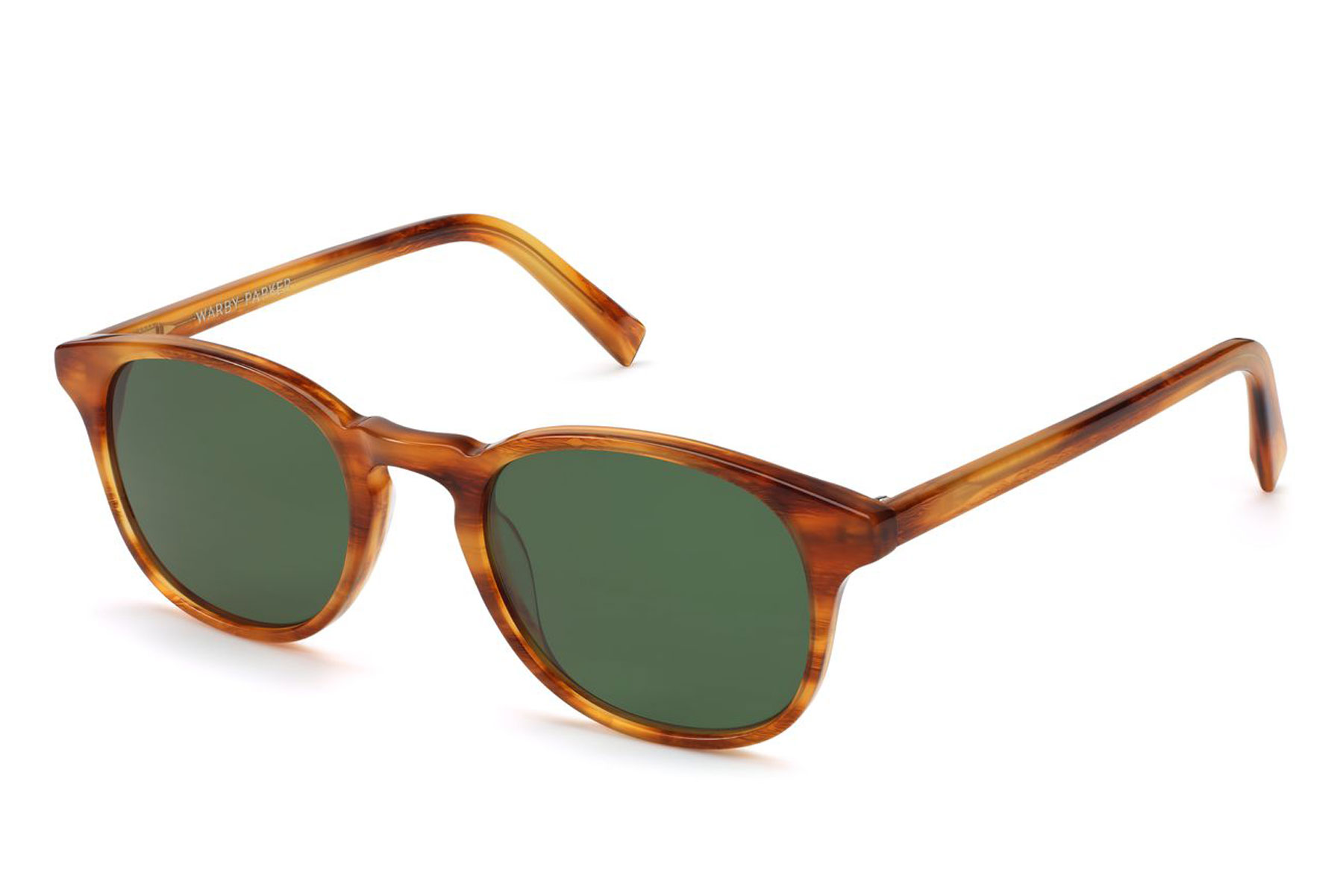 brown tortoise sunglasses with green lenses