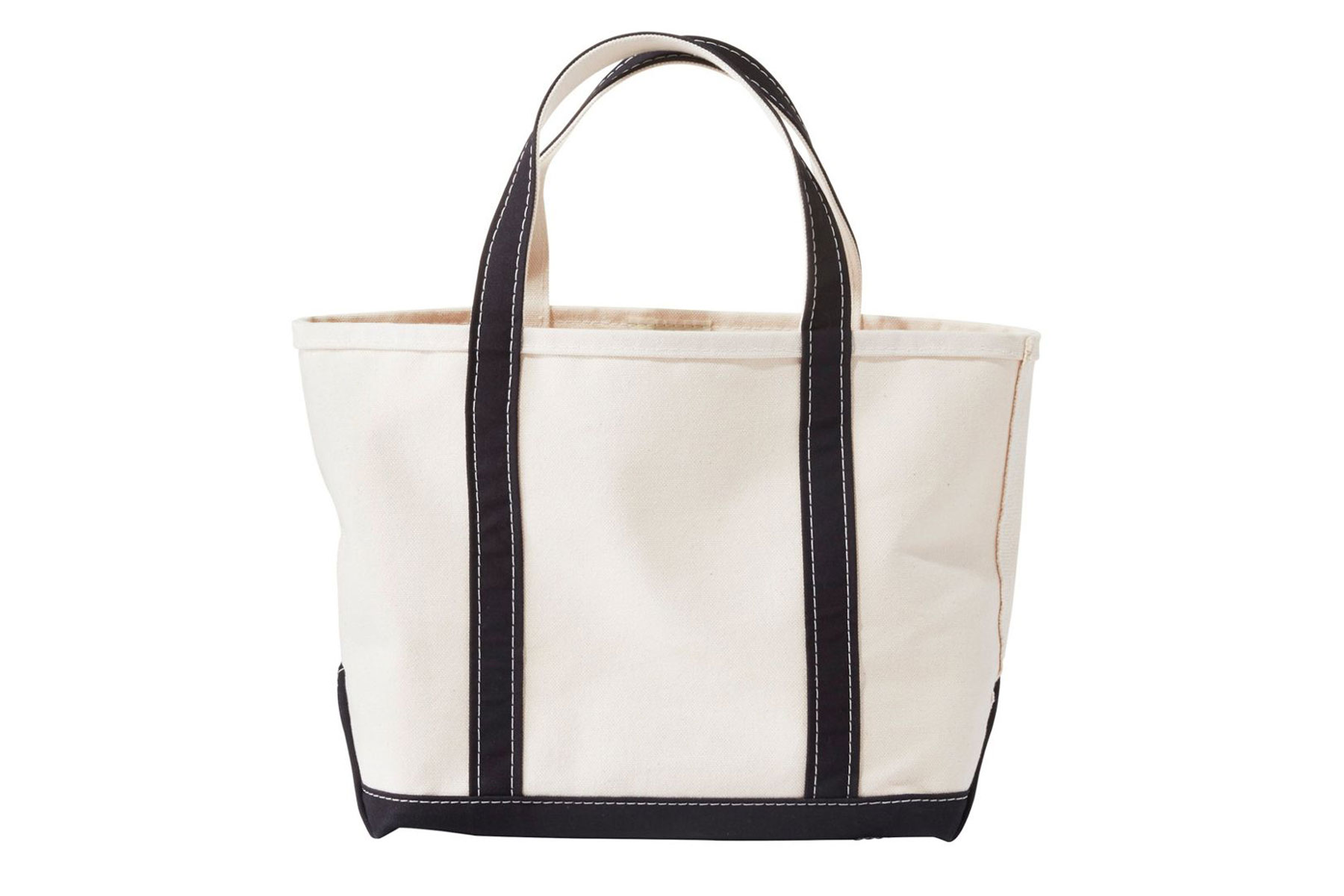 Canvas tote with black straps