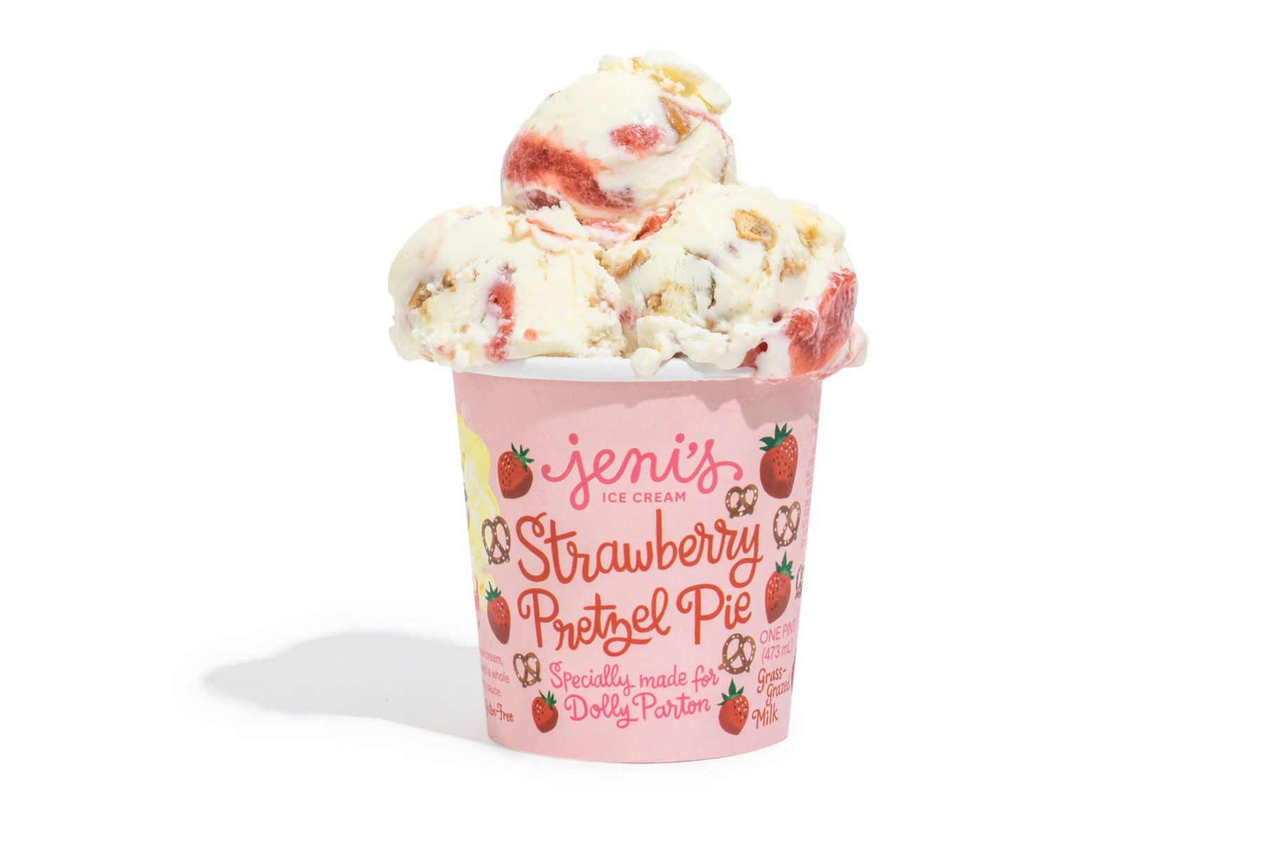 Strawberry Pretzel Pie ice cream pint