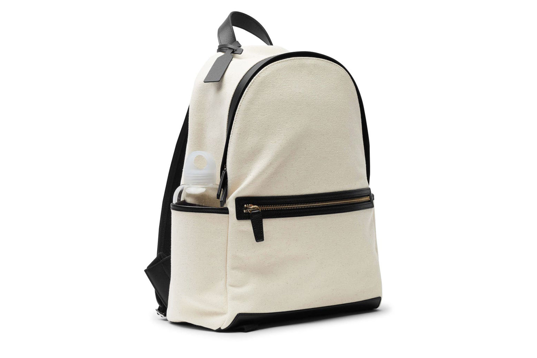 Canvas and leather backpack