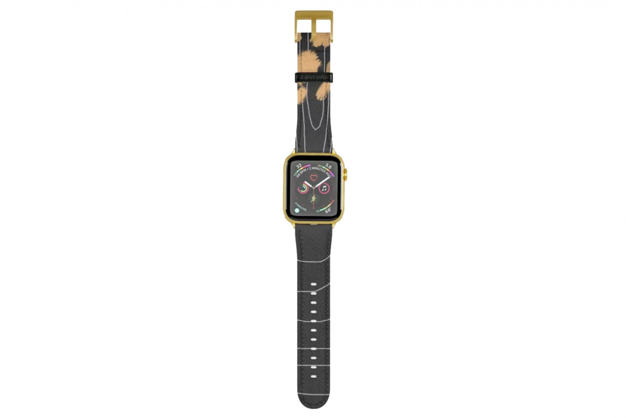 apple watch band black and gold society6