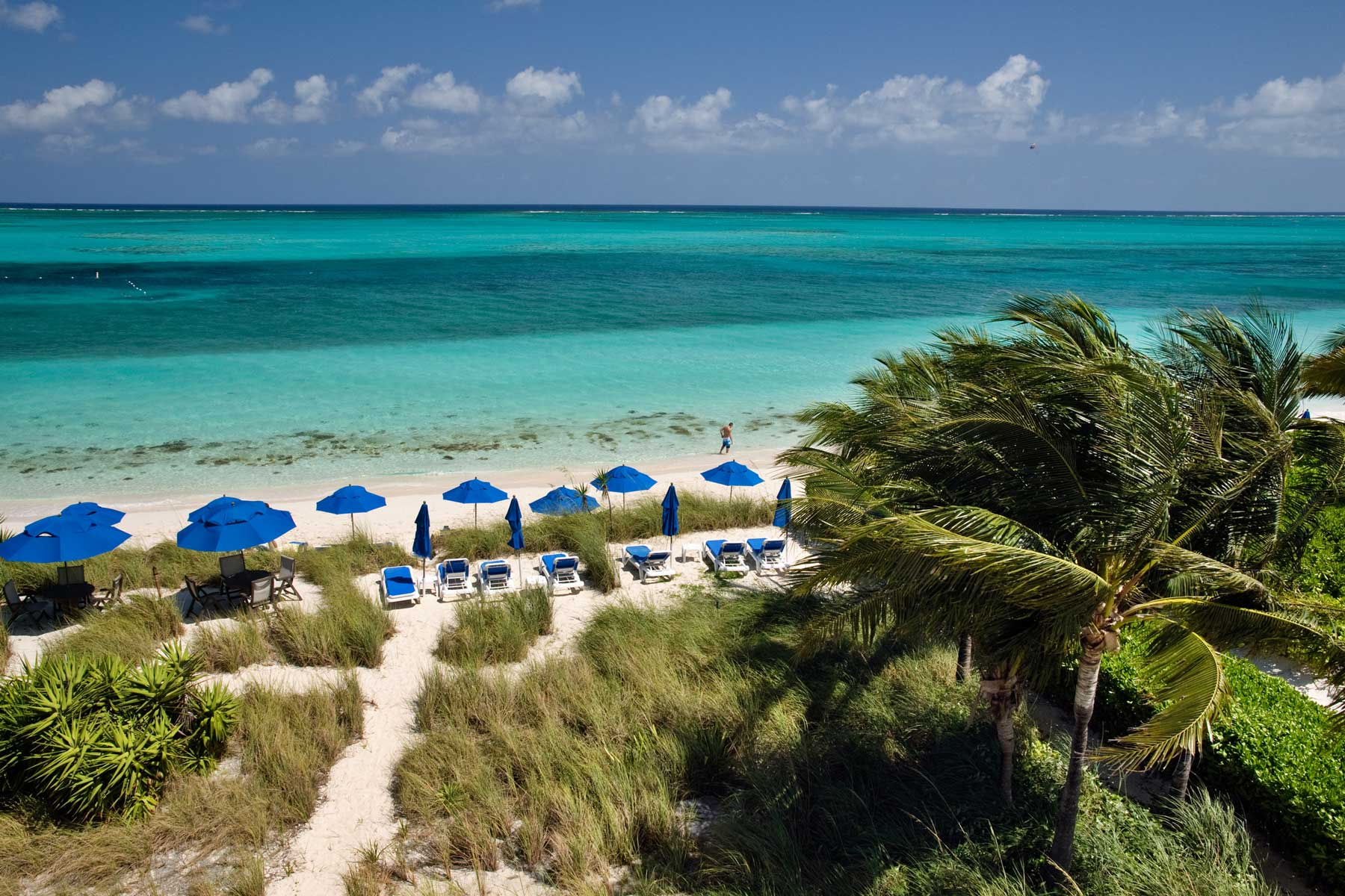 View of Beachfront on Grace Bay in Providenciales, Turks & Caicos