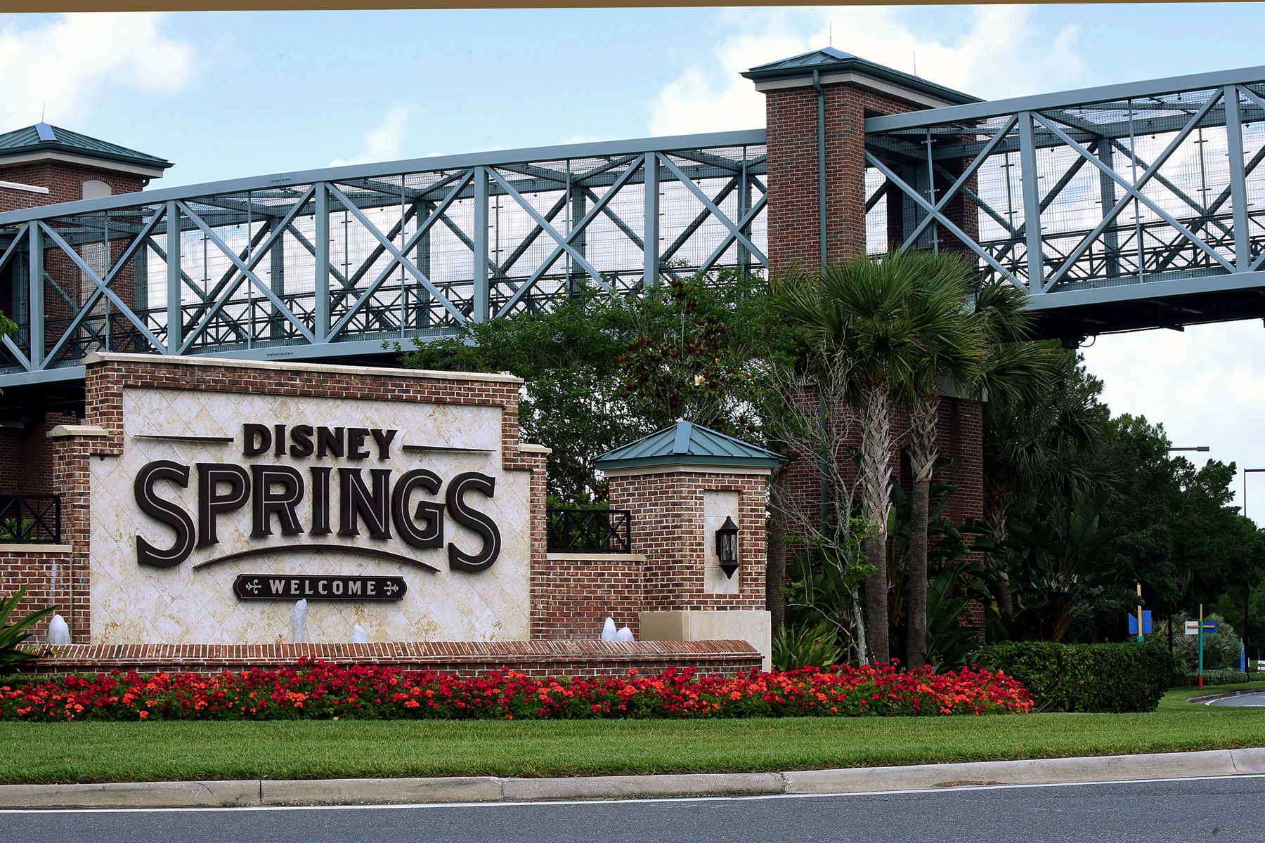 sign at the entrance to Disney Springs at Walt Disney World