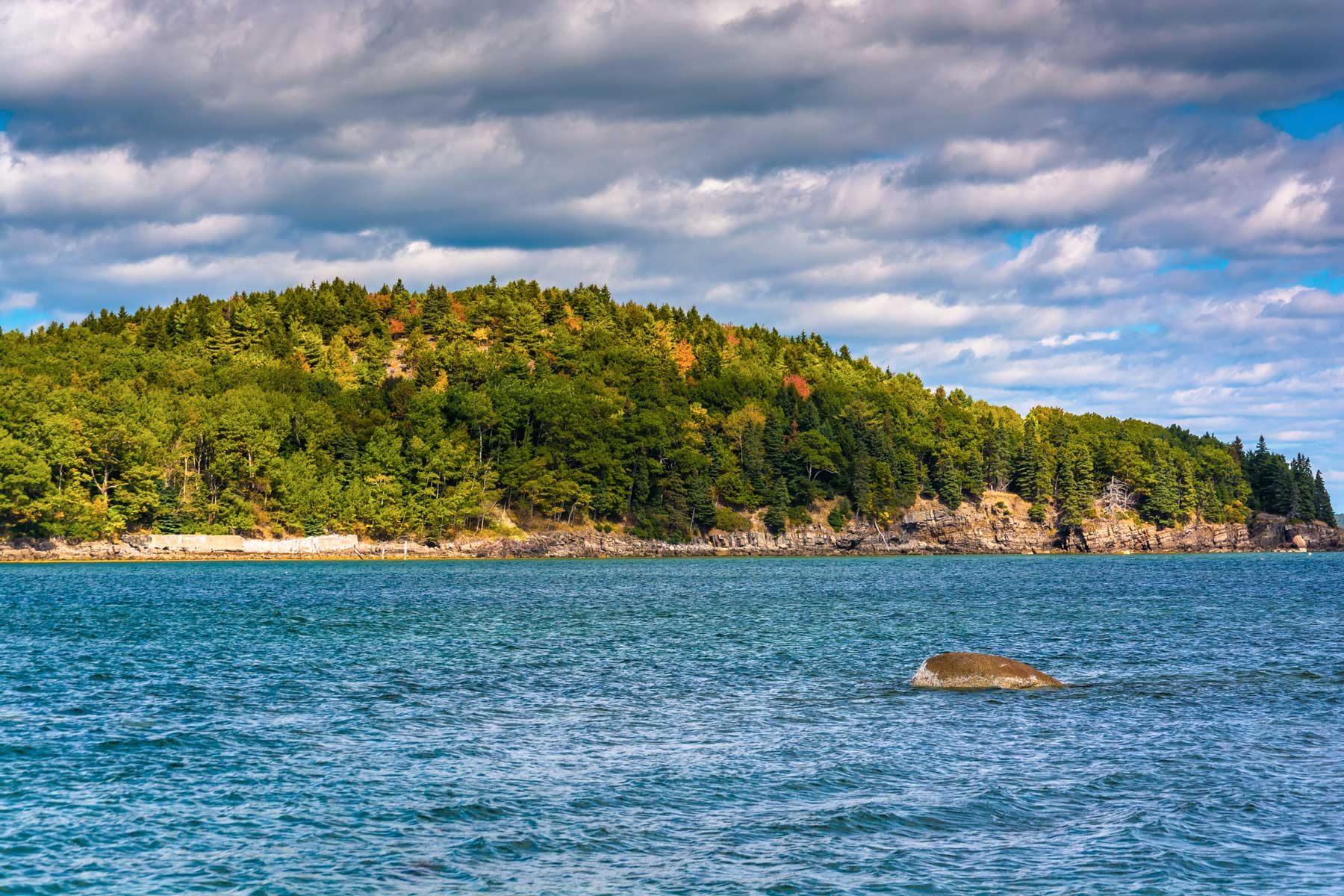 Island in Frenchman Bay, in Bar Harbor, Maine