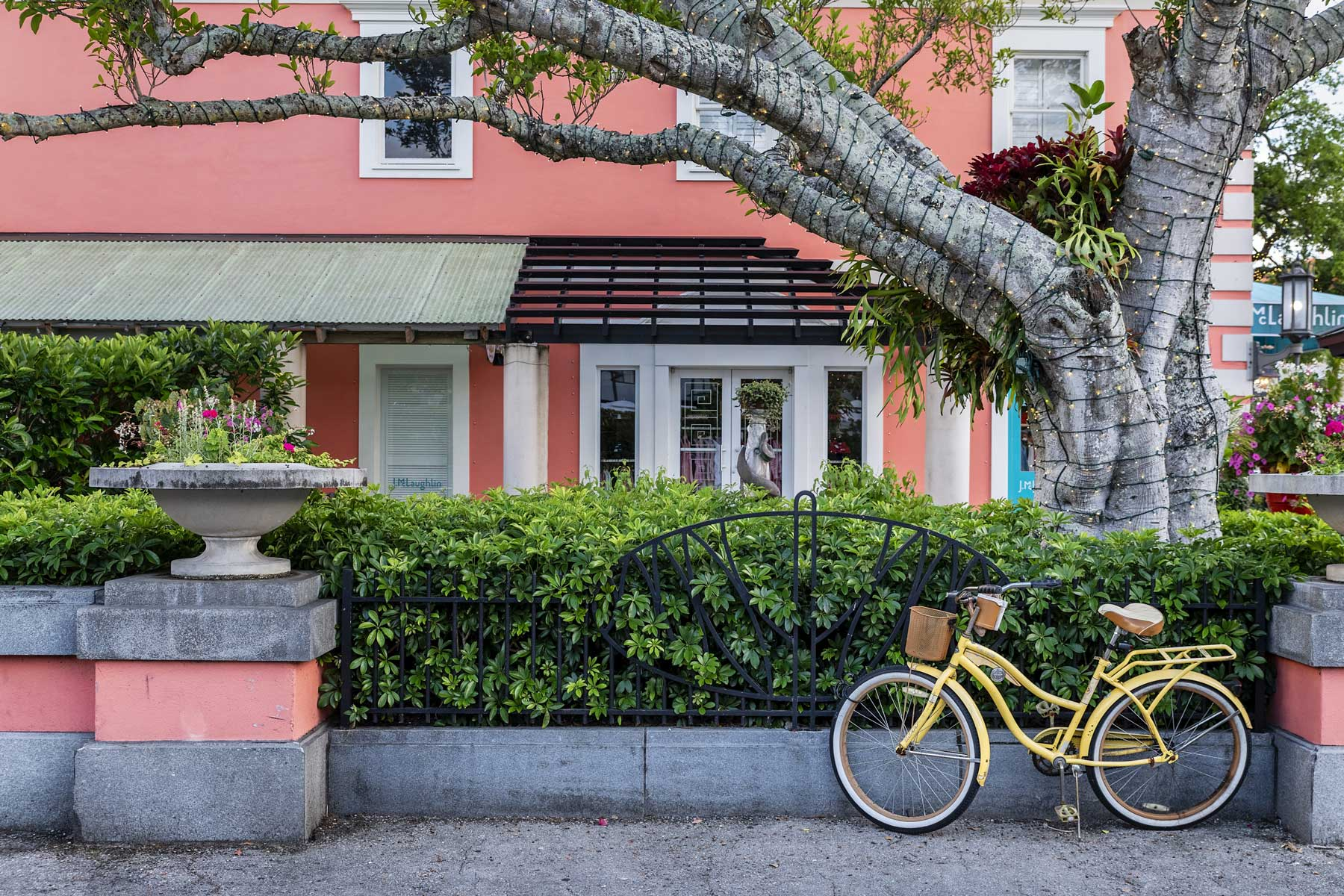 Charming downtown Old Naples in Florida.