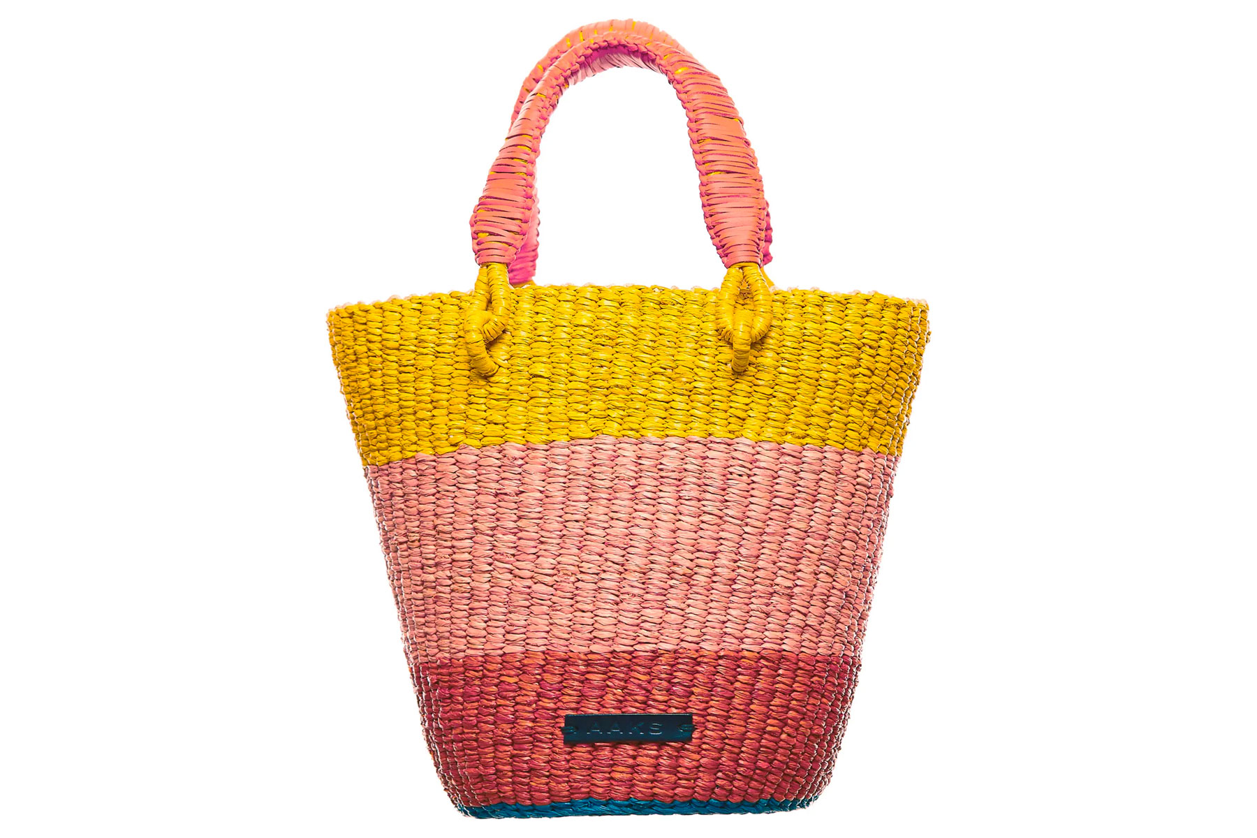 Aaks Tia Raffia Bucket Bag