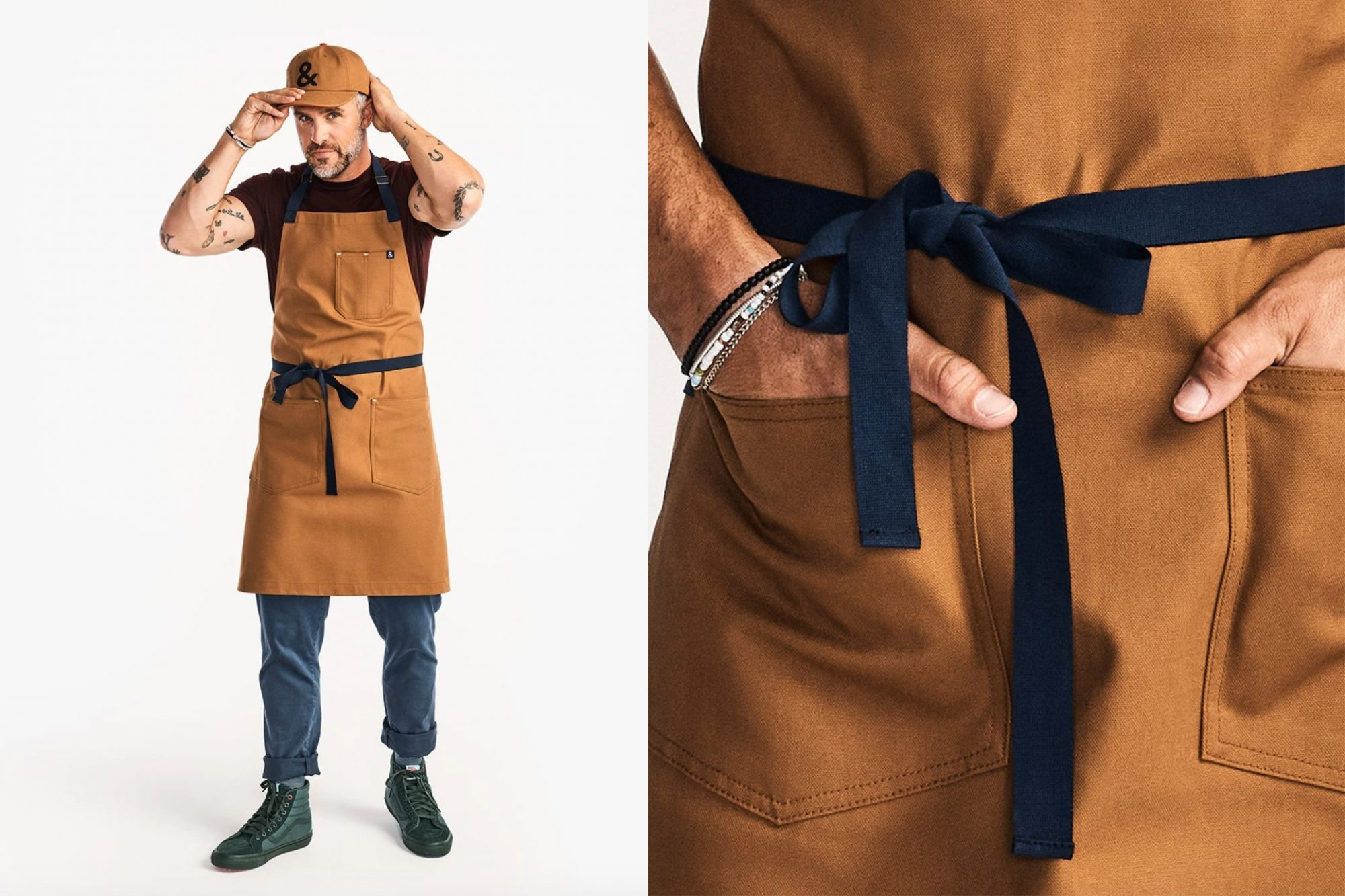 hedley & bennett essential cook grill apron