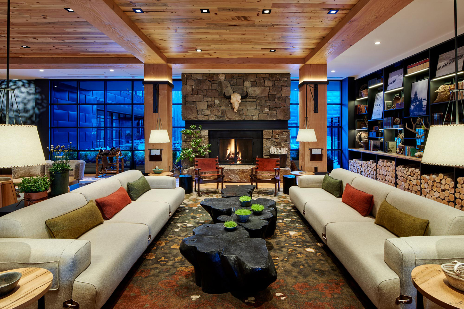 Interior of the lobby at The Cloudveil
