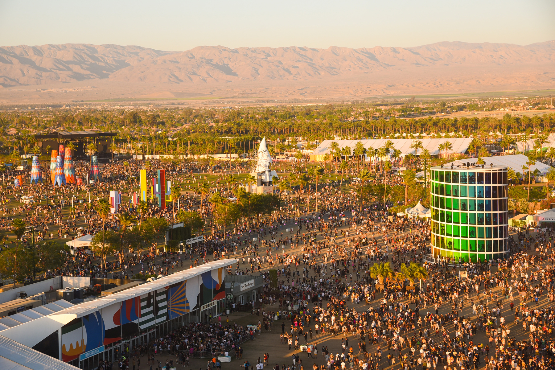 aerial view of the 2019 Coachella Valley Music And Arts Festival