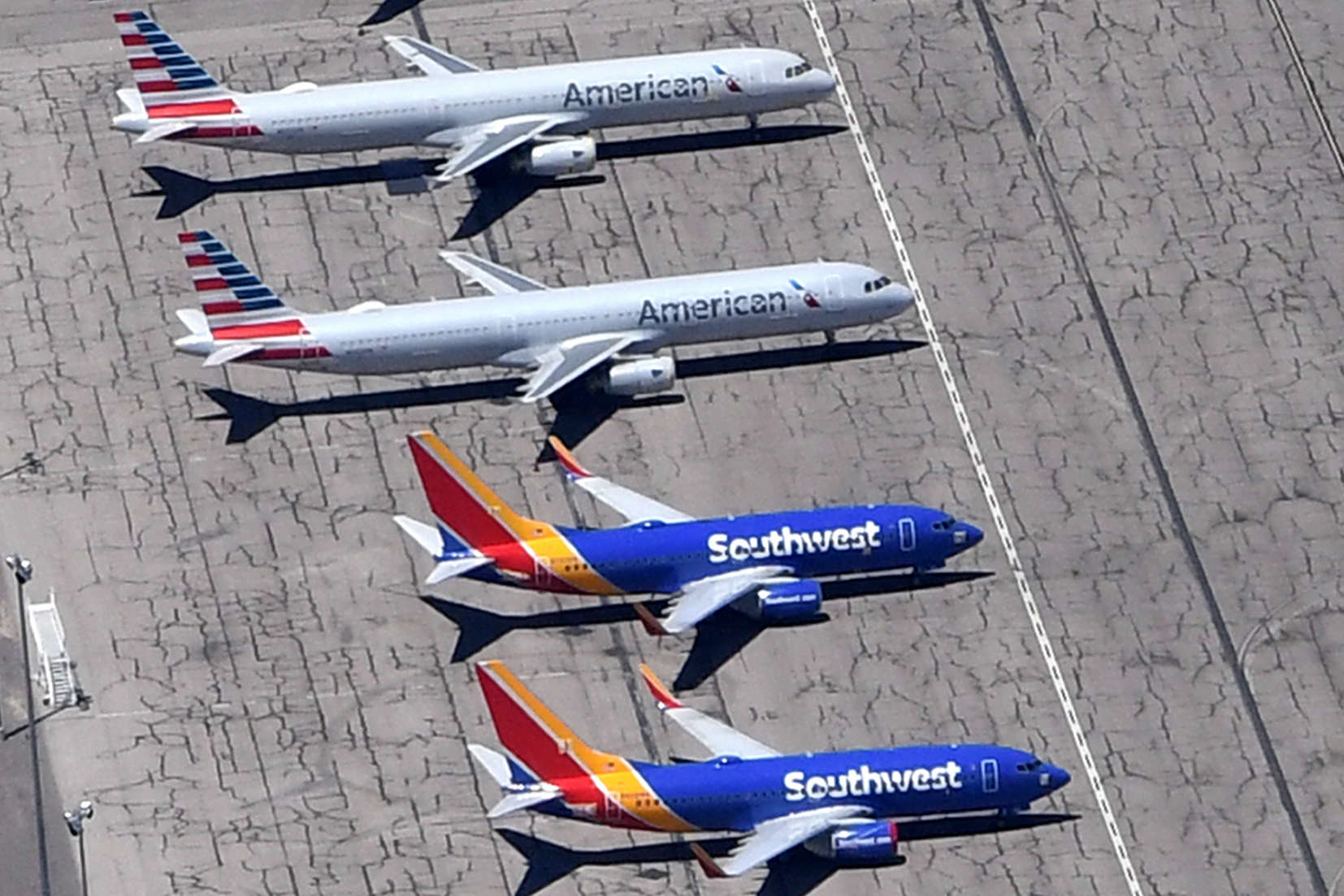 American and Southwest planes