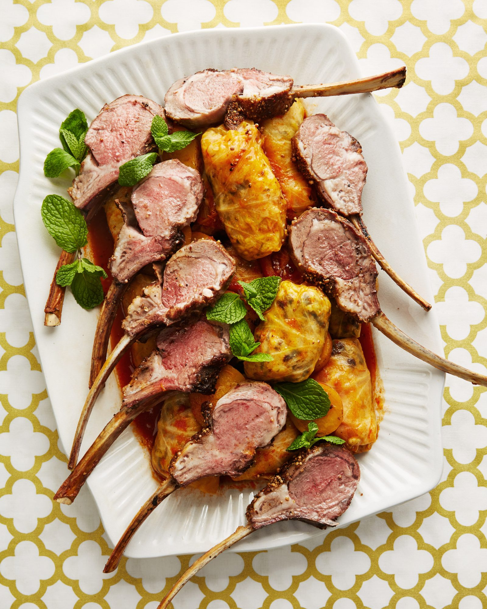 cabbage spiced lamb chops