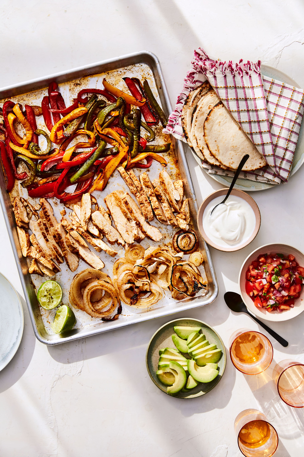 sheet pan with chicken and vegetables