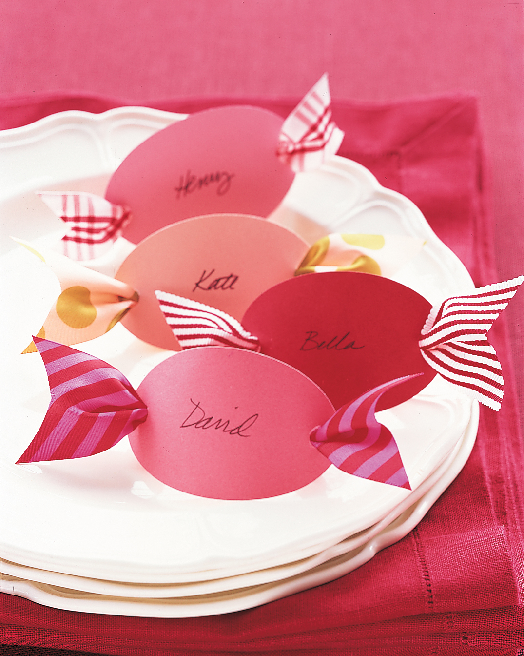 Candy-Shaped Place Cards