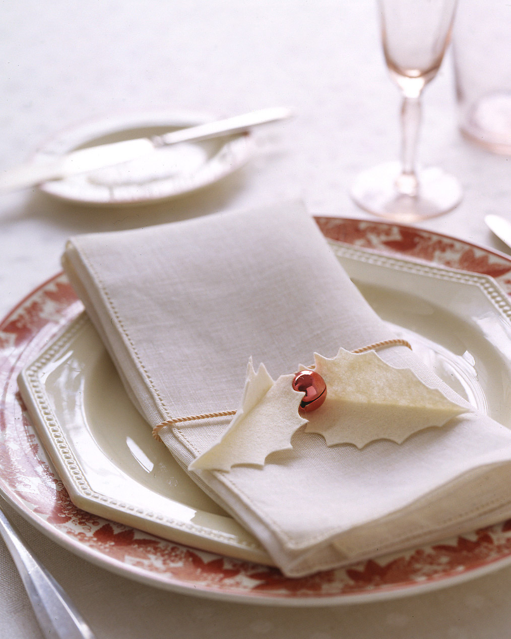 Holly-Jolly Table Setting