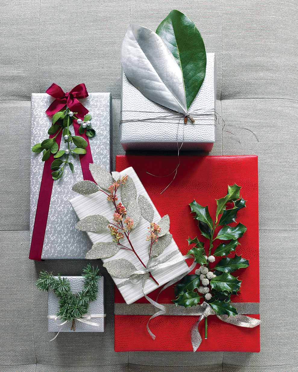 Nature-Inspired Gift Wrap