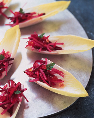 Endive Boats with Marinated Vegetables