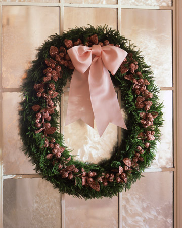 Glittered Berry Wreath