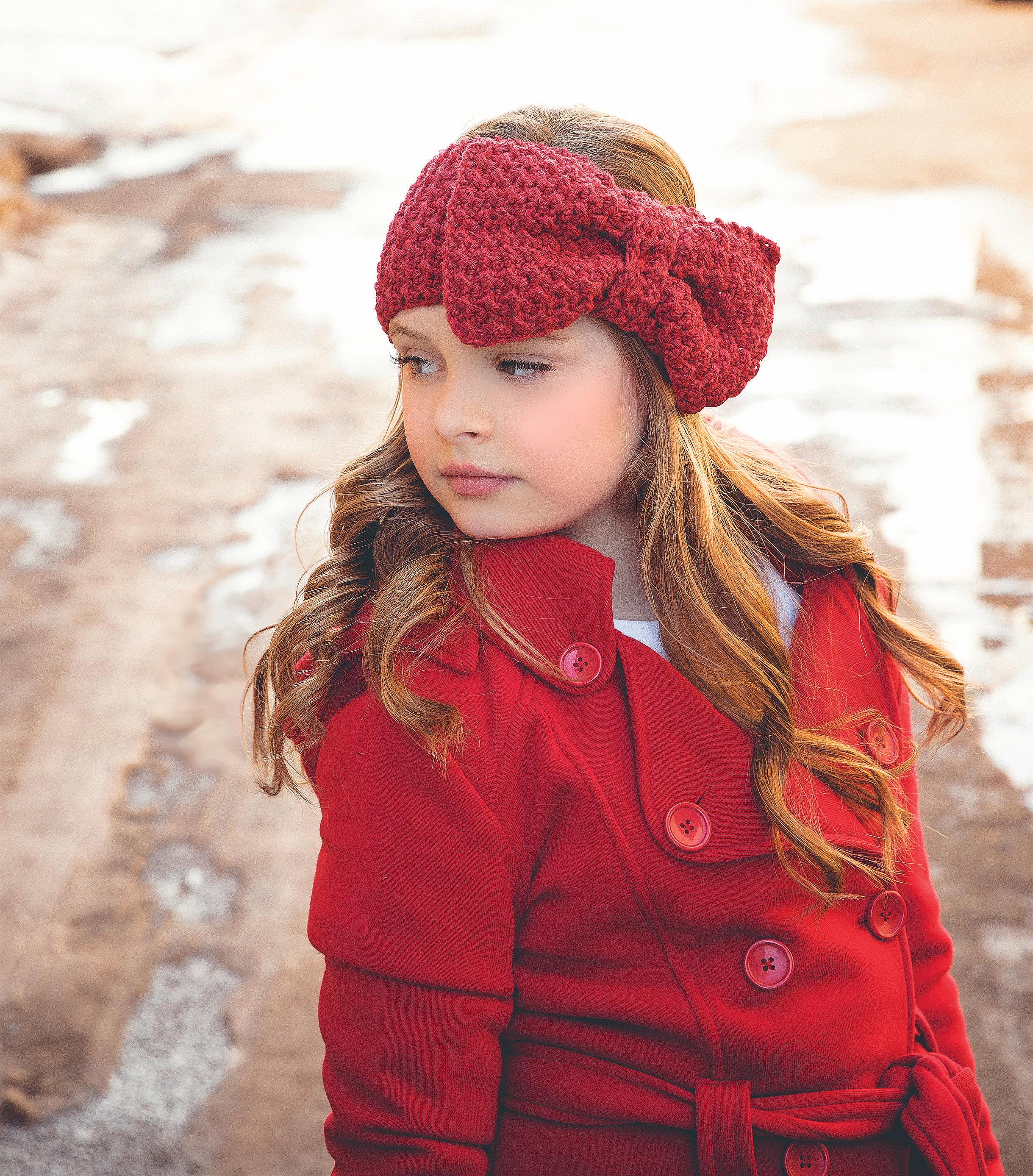 ear warmer with bow