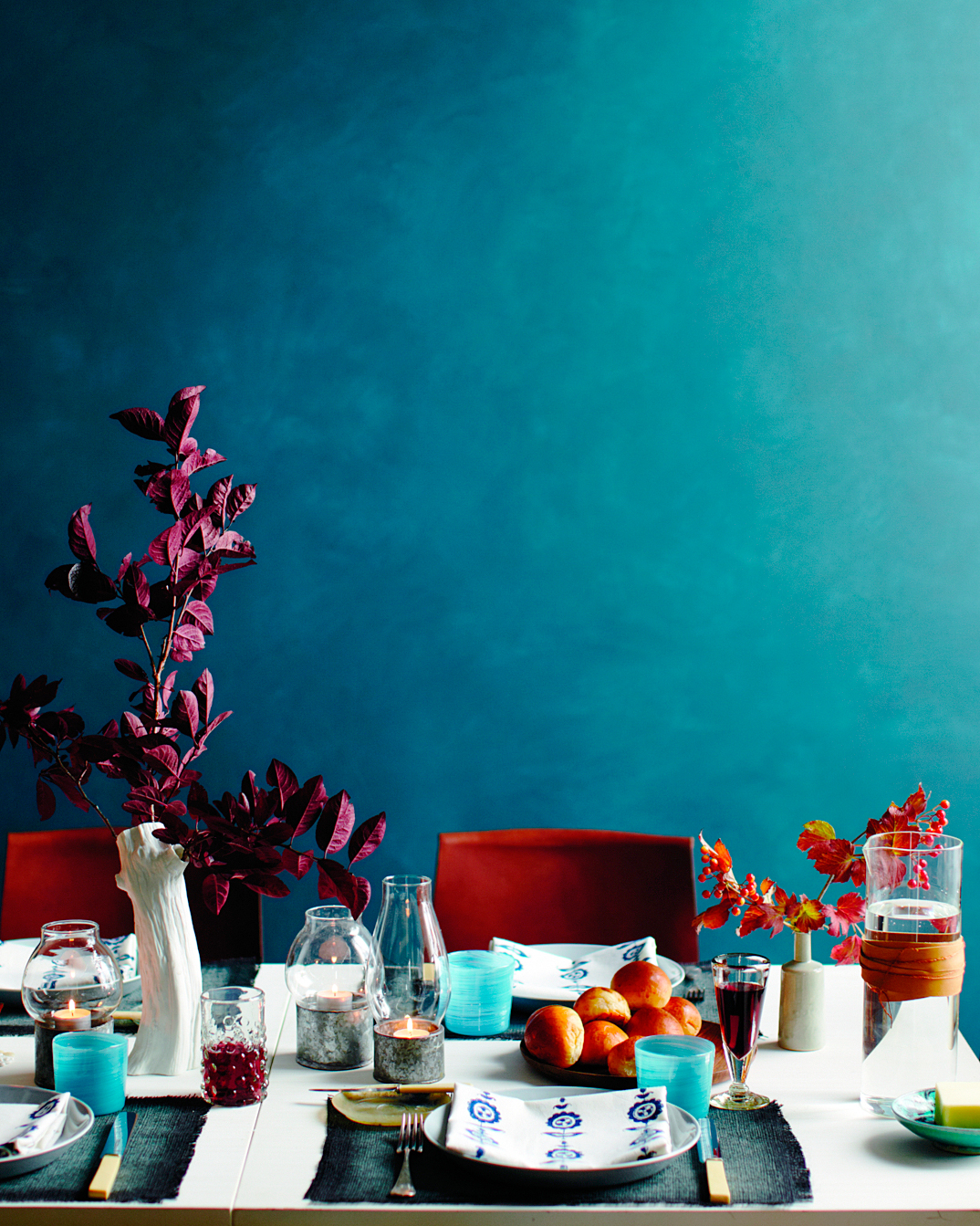 Richly Colored Table Setting