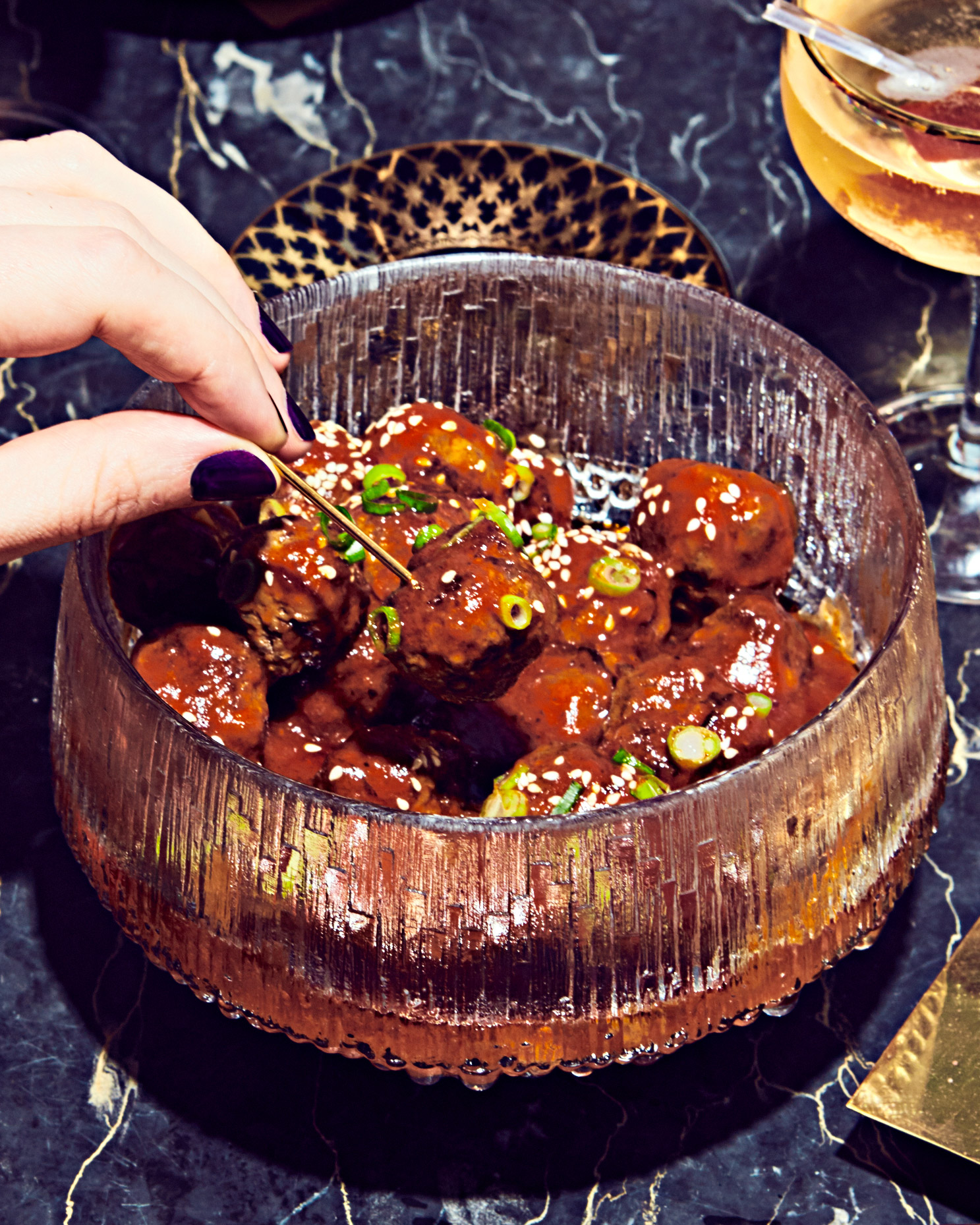 Sweet-and-Sour Korean Cocktail Meatballs
